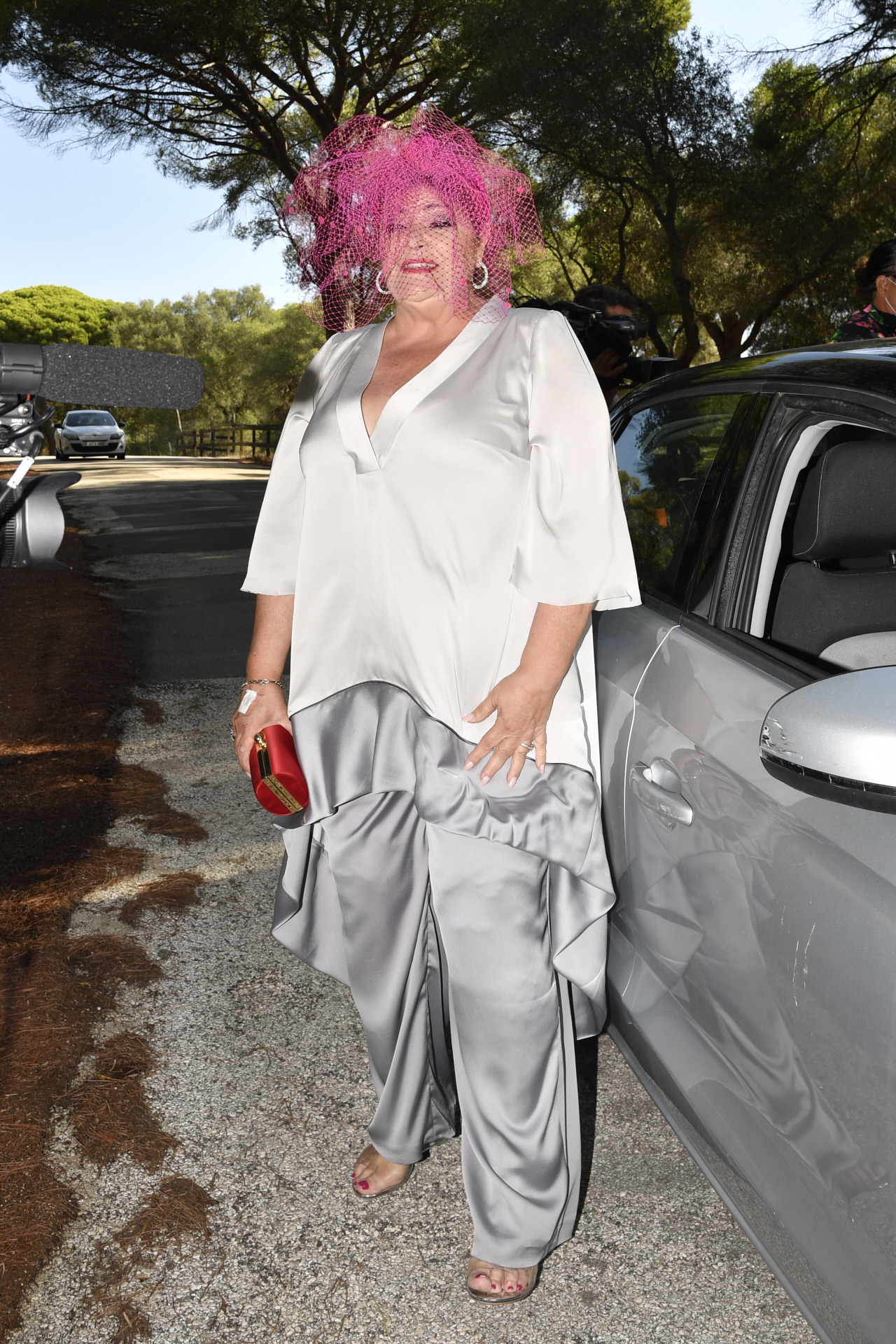 Charo Reina at the wedding of Elena Furiase and Gonzalo Sierra