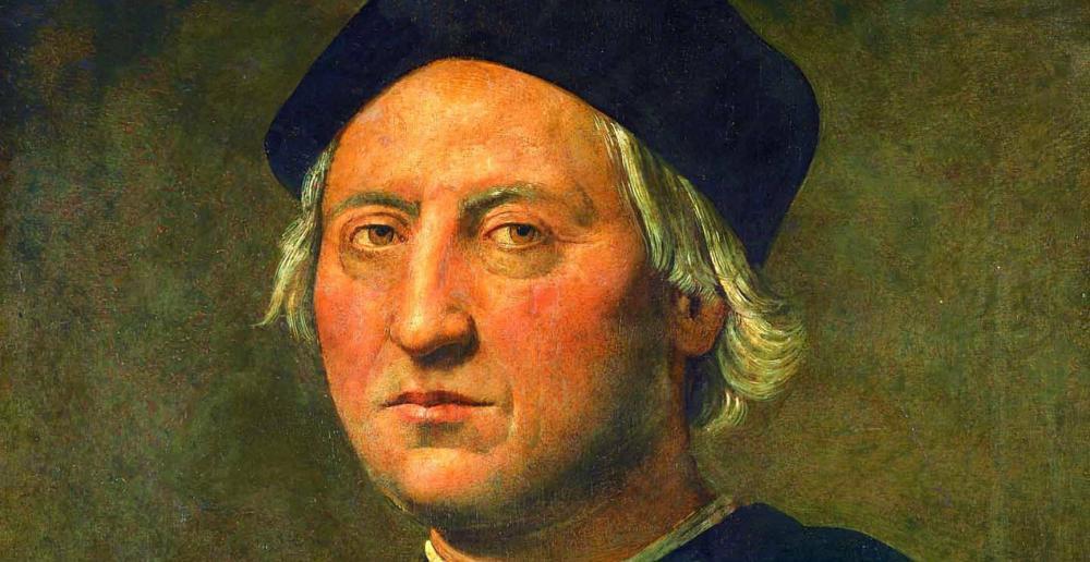 Retrato de Cristóbal Colón del pintor italiano del Renacimiento Ghirlandaio