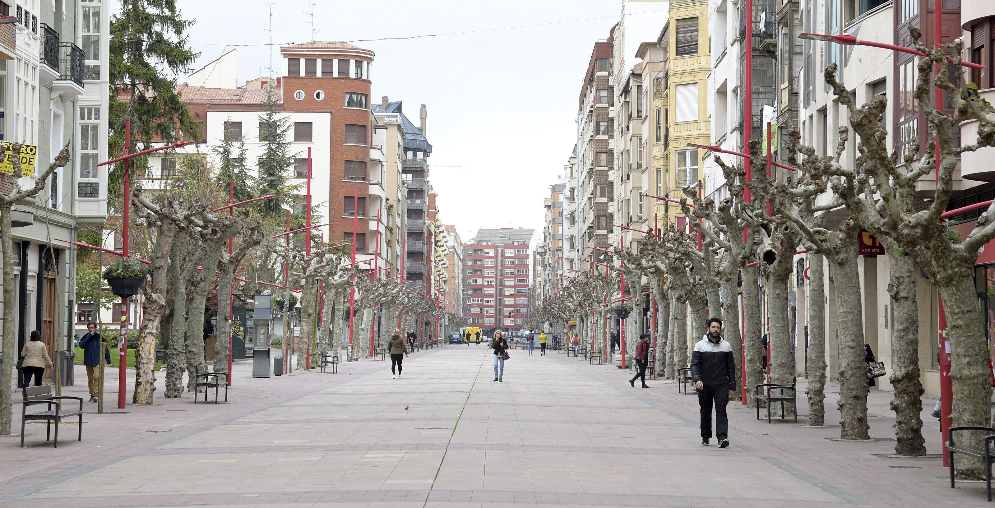 Las calles de Miranda de Ebro se vacían