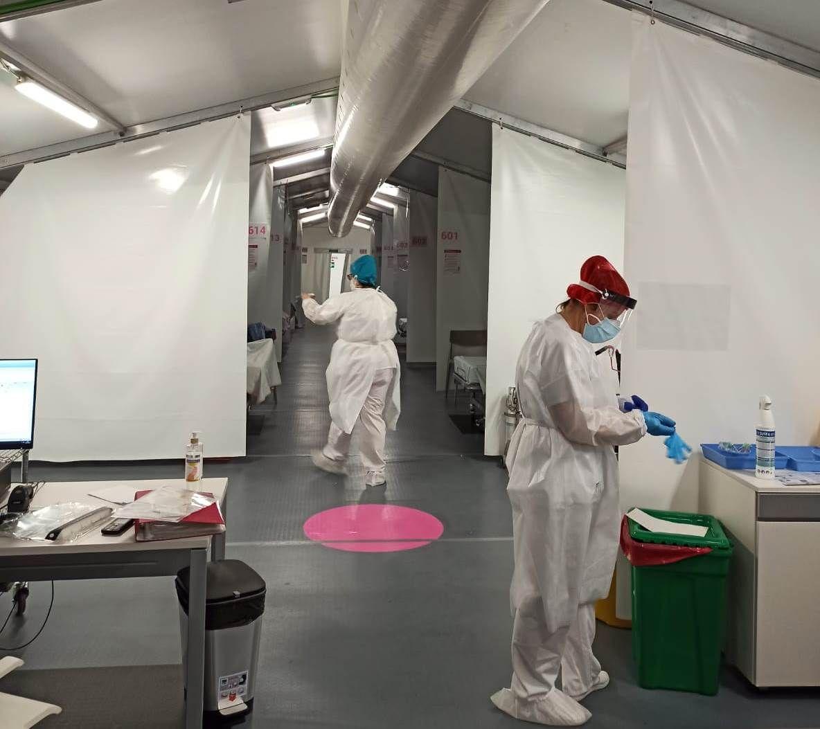 El hospital de campaña de Castellón empieza a recibir pacientes covid