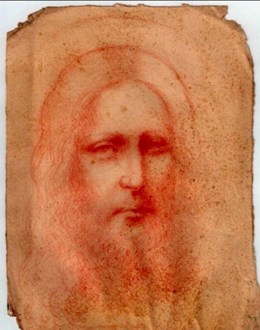 Descubren un boceto de Jesucristo del siglo XVI y lo atribuyen a Leonardo  Da Vinci