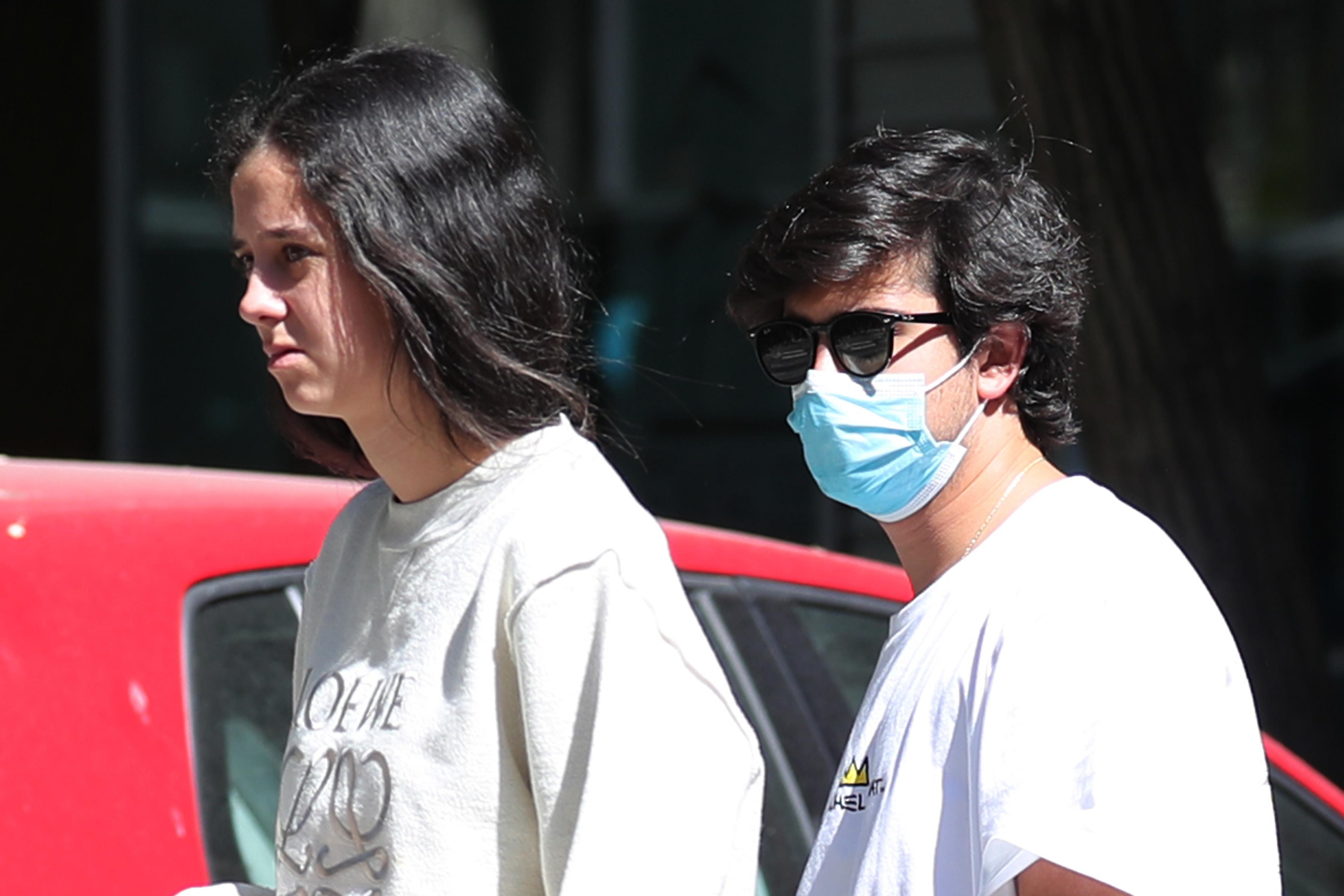Victoria Federica de Marichalar y Jorge Bárcenas por las calles de Madrid 04/07/2020