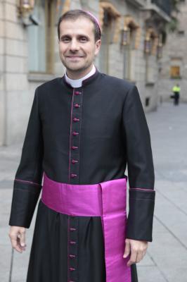 Novell, cuando fue ordenado obispo de Solsona