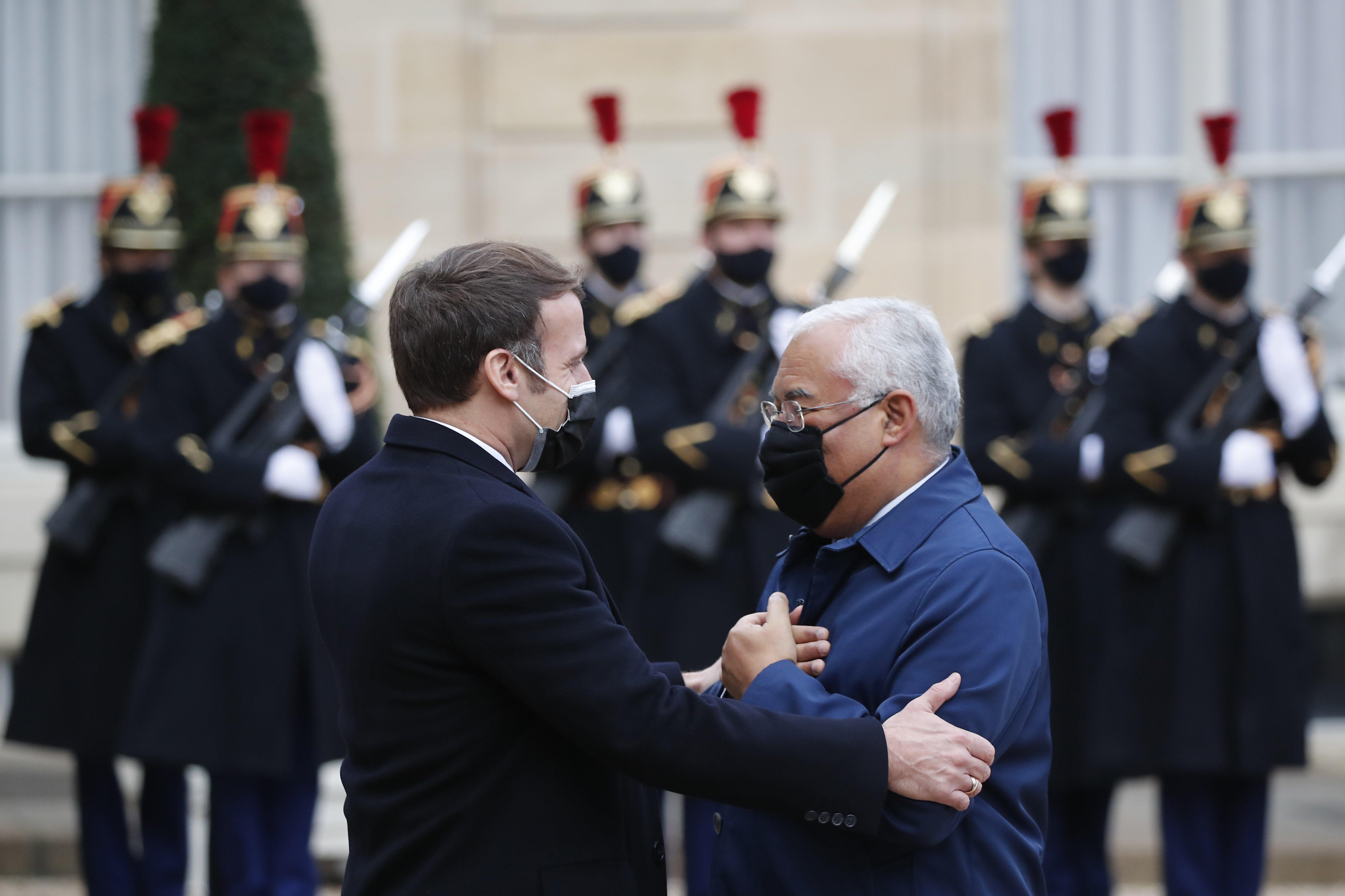 Emmanuel Macron y Antonio Costa el miércoles comieron juntos en París