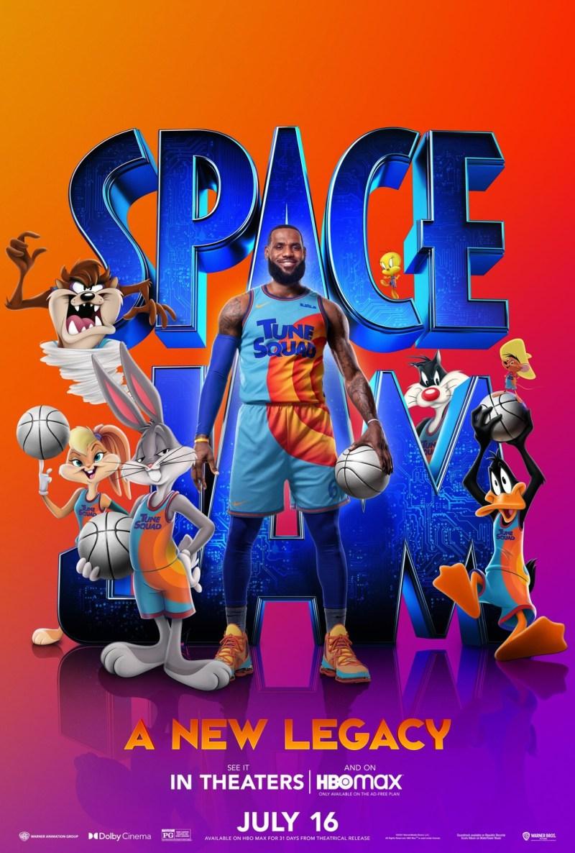 """Cartel oficial de la película """"Space Jam: Nuevas leyendas"""""""