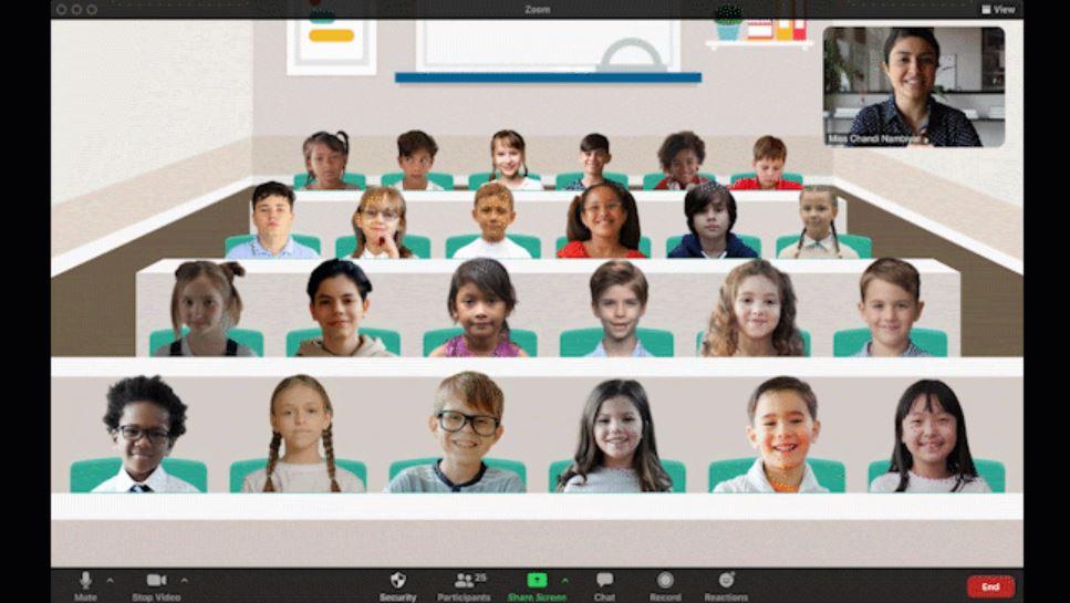 Zoom trae la función perfecta para los profesores: ahora puedes poner de fondo una clase