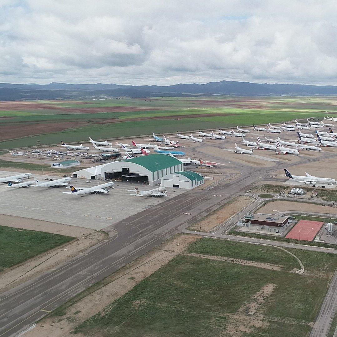Imagen actual del aeropuerto de Teruel