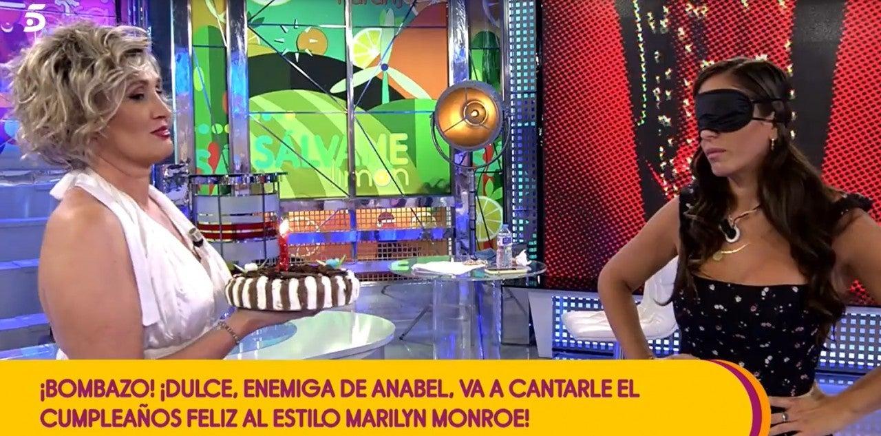 Dulce Delapiedra y Anabel Pantoja en 'Sálvame'