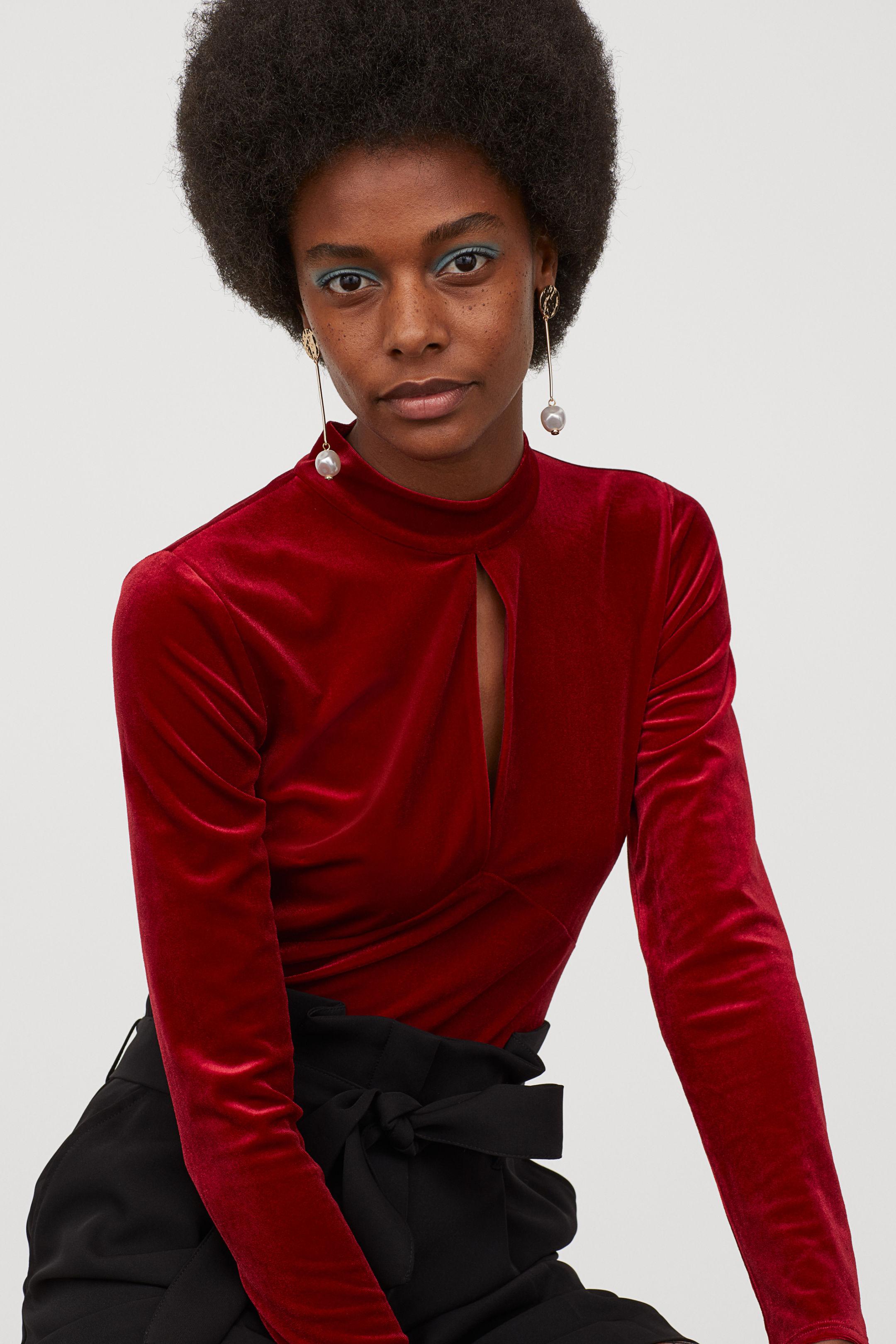Body terciopelo H&M