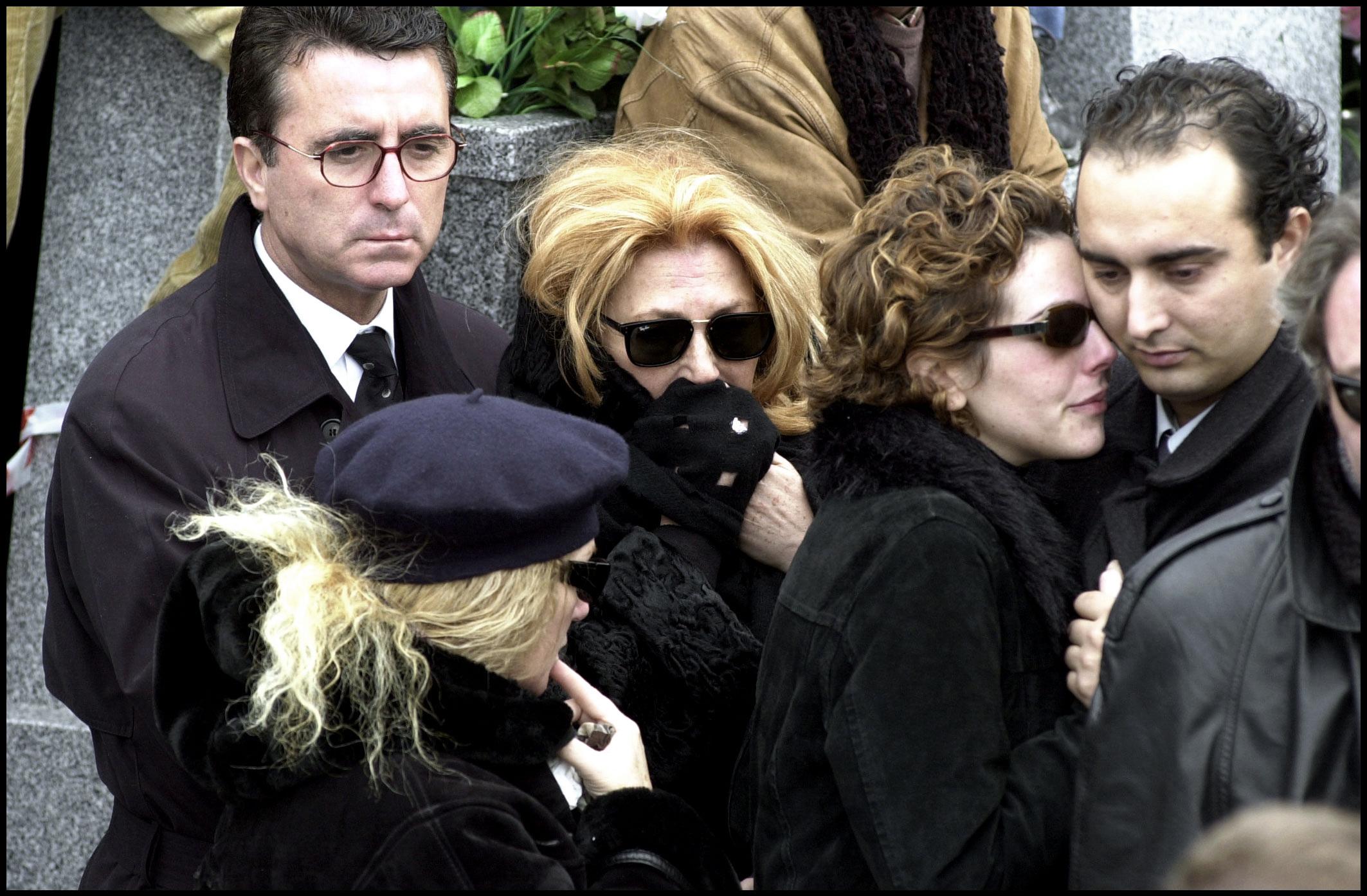 Rocío Carrasco, Fidel Albiac, José Ortega Cano y Rocío Jurando, en el entierro de Pedro Carrasco JJS / © Korpa