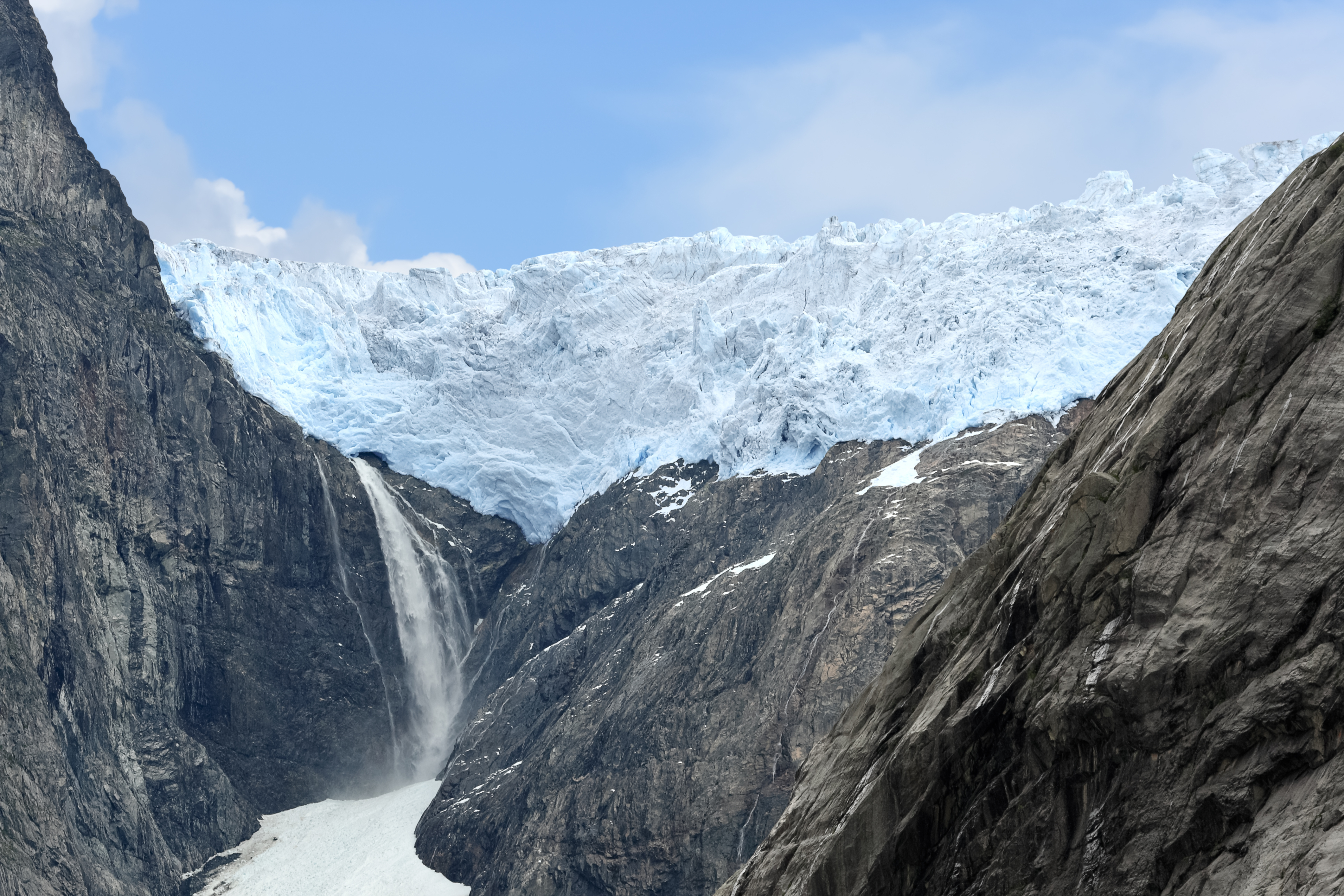 Glaciar de Briksdal.