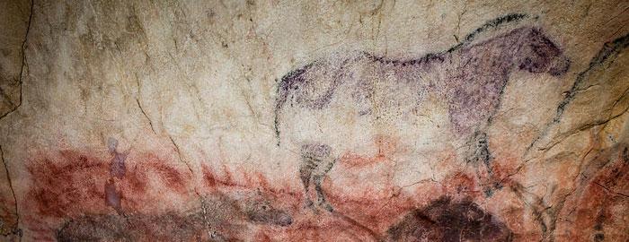 Representación de un caballo en la Cueva de Tito Bustillo.