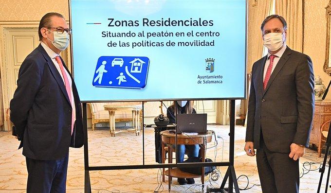 Salamanca convertirá en calles residenciales 214 vías, donde sólo se podrá circular a 20 kilómetros por hora