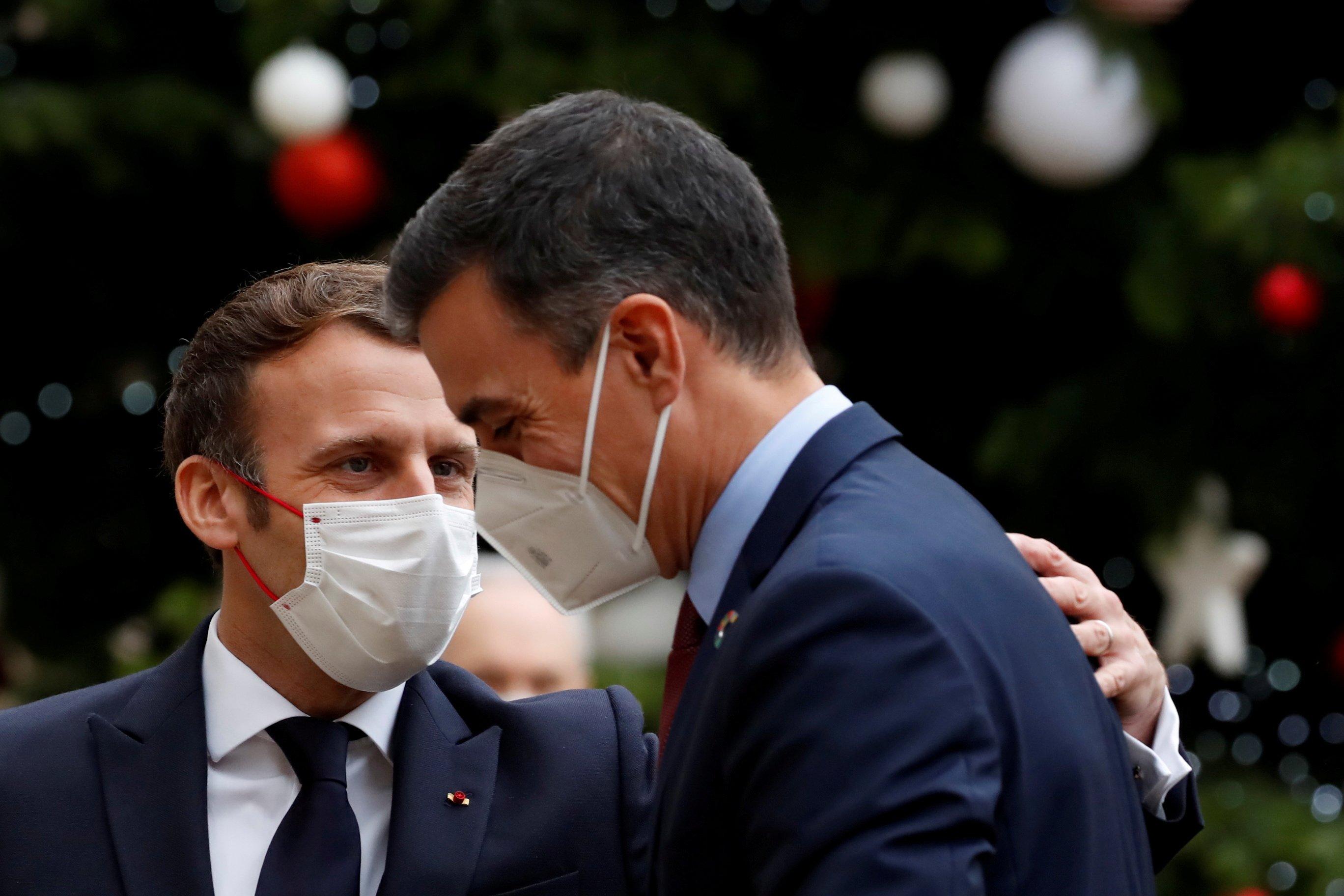 Emmanuel Macron y Pedro Sanchez en el Palacio del Elíseo este lunes
