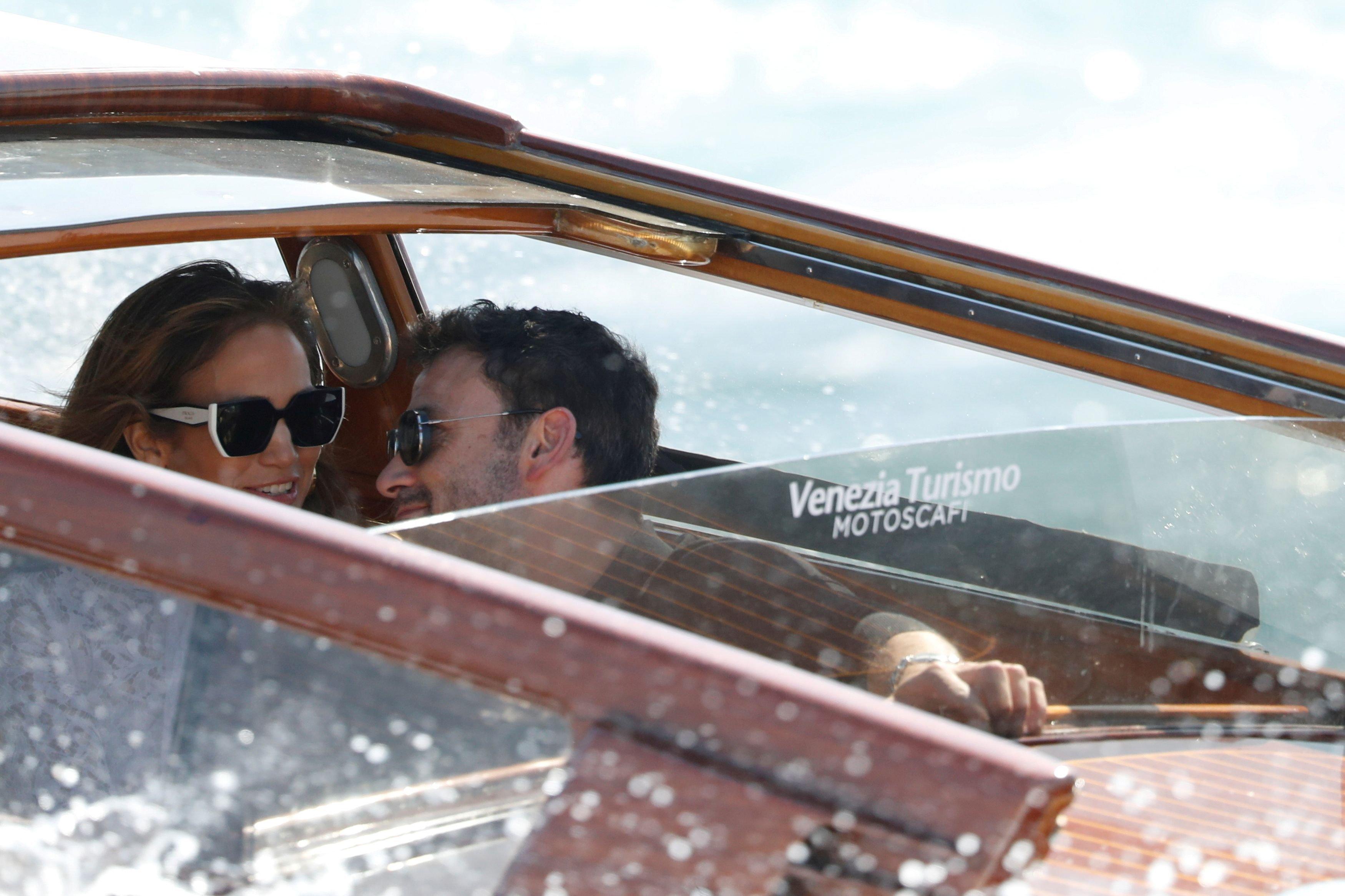 Jennifer Lopez y Ben Affleck en Venecia