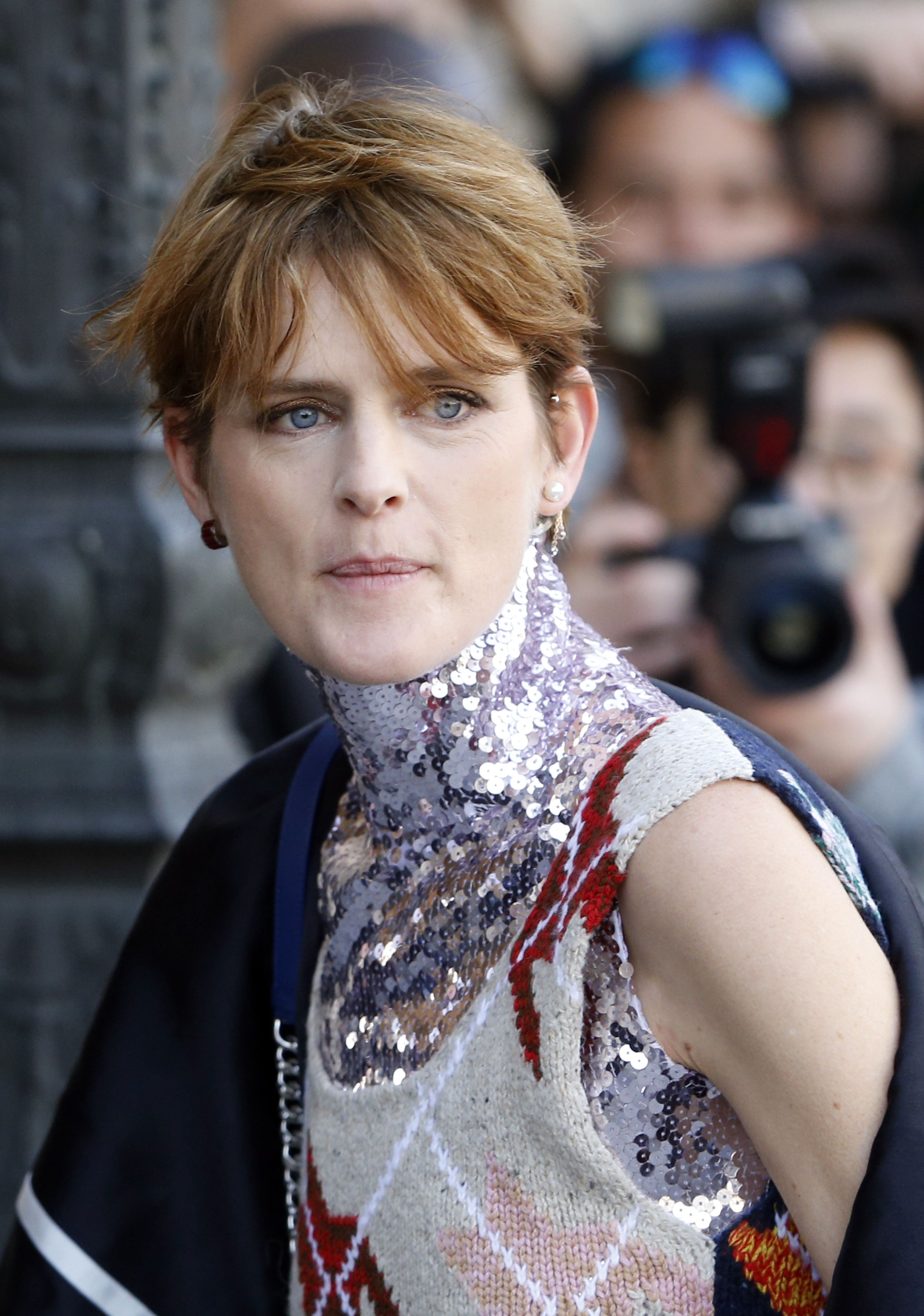Paris (France).- (FILE) - British model Stella Tennant arrives for the presentation of the Fall/Winter 2015/16 Ready to Wear collection by Dior fashion house during the Paris Fashion Week, in Paris, France, 06 March 2015 (reissued 23 December 2020). According to media reports, Stella Tennant has died aged 50, her family confirmed. (Moda, Francia, Reino Unido) EFE/EPA/GUILLAUME HORCAJUELO *** Local Caption *** 51830785