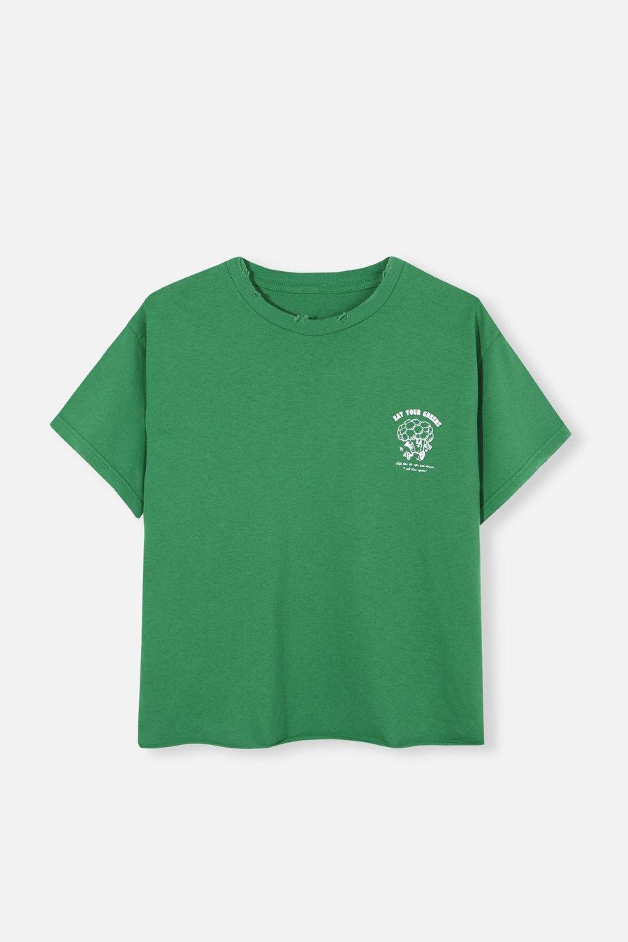 Camiseta verde de la firma My Peeptoes shop