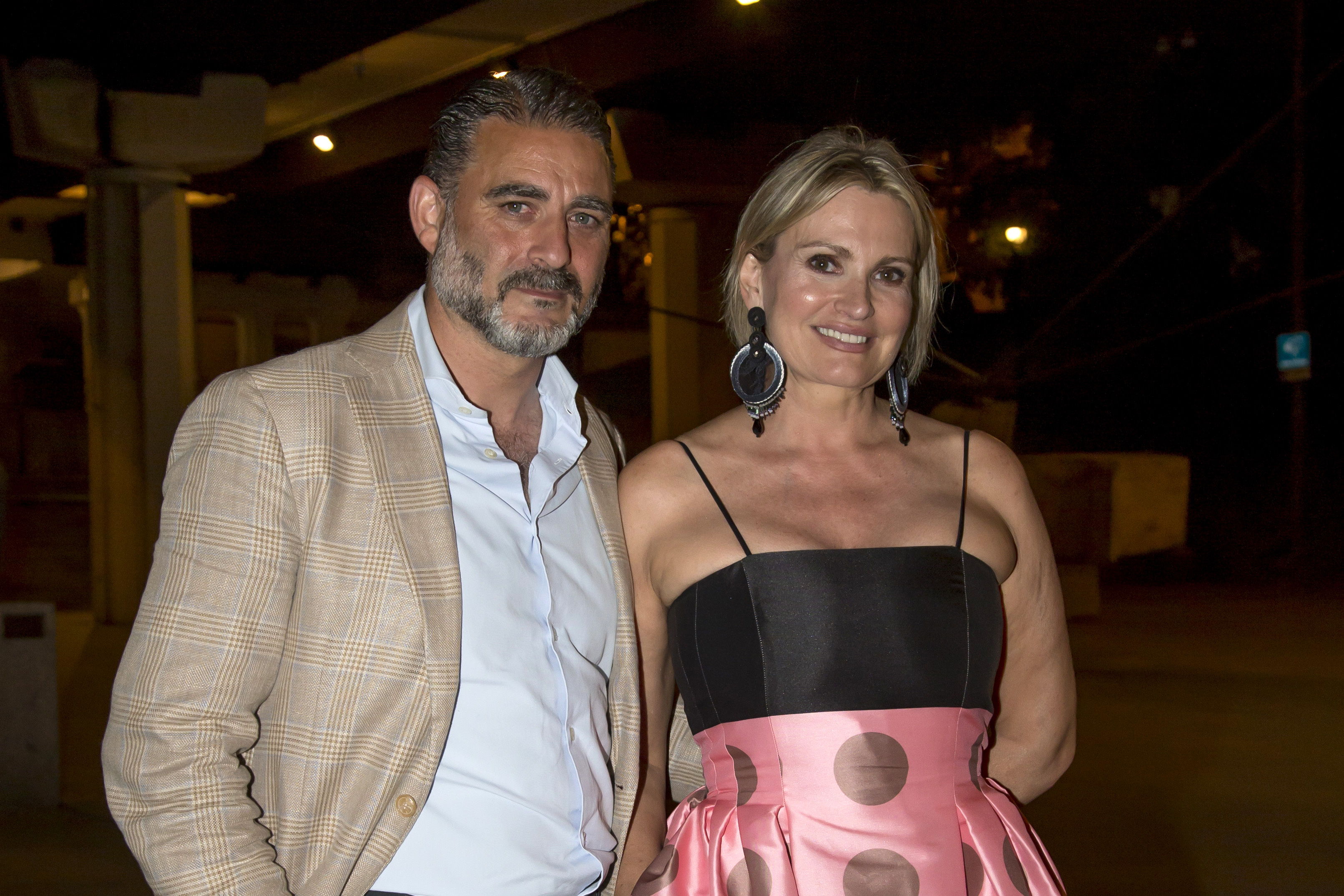 Ainhoa Arteta and Maías Urrea leave the dinner in honor of French photographer Jean-Daniel Lorieux after presenting his exhibition on the occasion of Oceans Day, June 7, 2021, in Madrid, Spain.