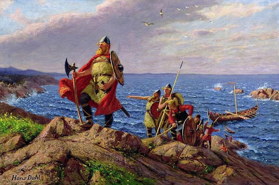 El caudillo vikingo Leif Eriksson
