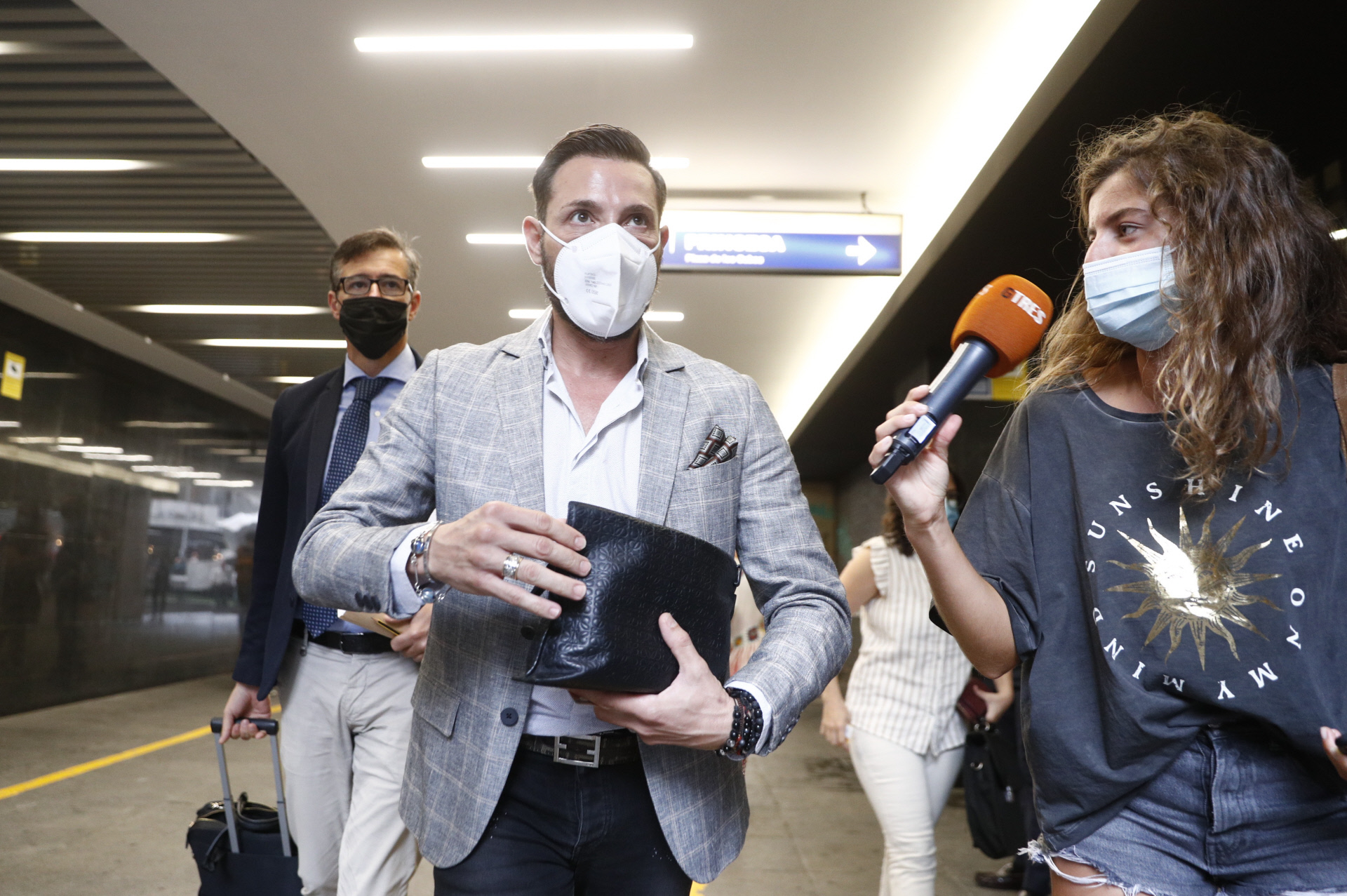 Antonio David Flores a su llegada a un juicio contra la Fabrica de la Tele en Madrid. 07/09/2021