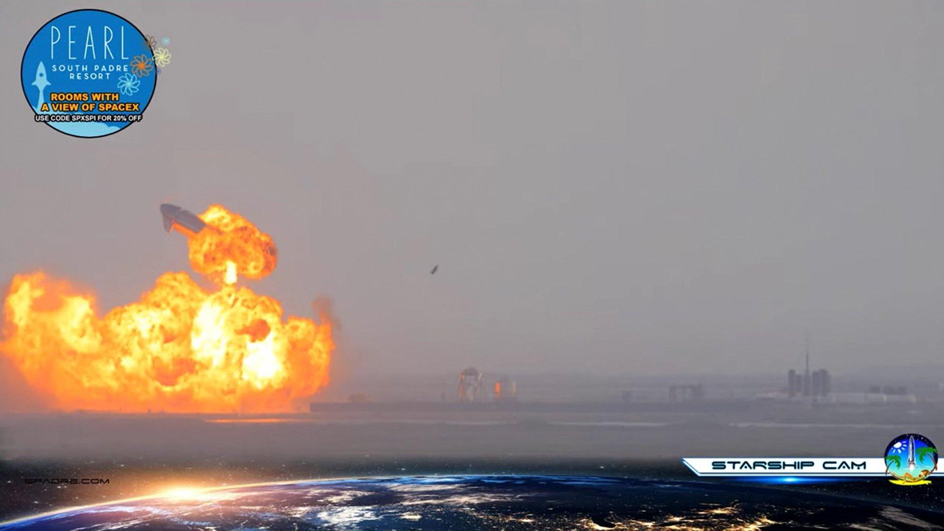 La nave Starship, de SpaceX, explota poco después de aterrizar con éxito