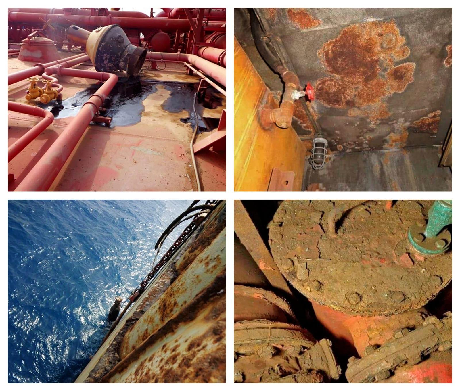 El petrolero se encuentra plagado de millones de barriles pudriéndose