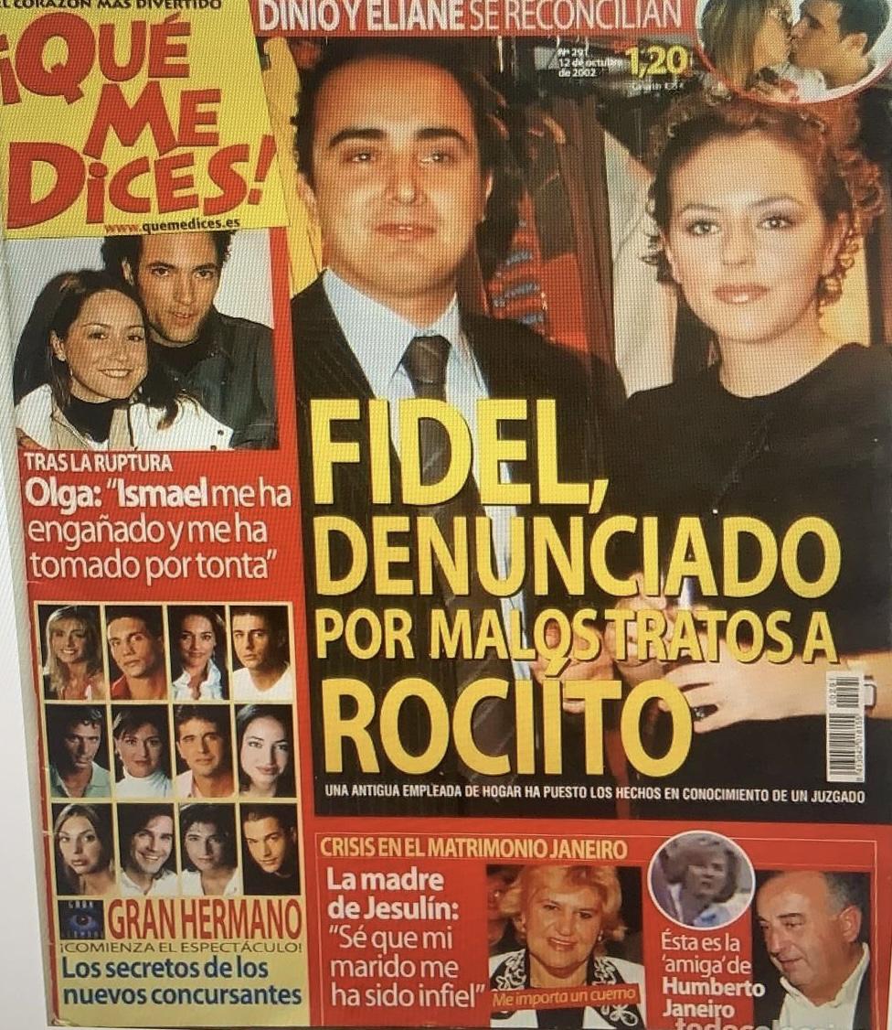 """Portada de la revista QMD: """"Fidel Albiac, denunciado por malos tratos a Rociíto""""."""