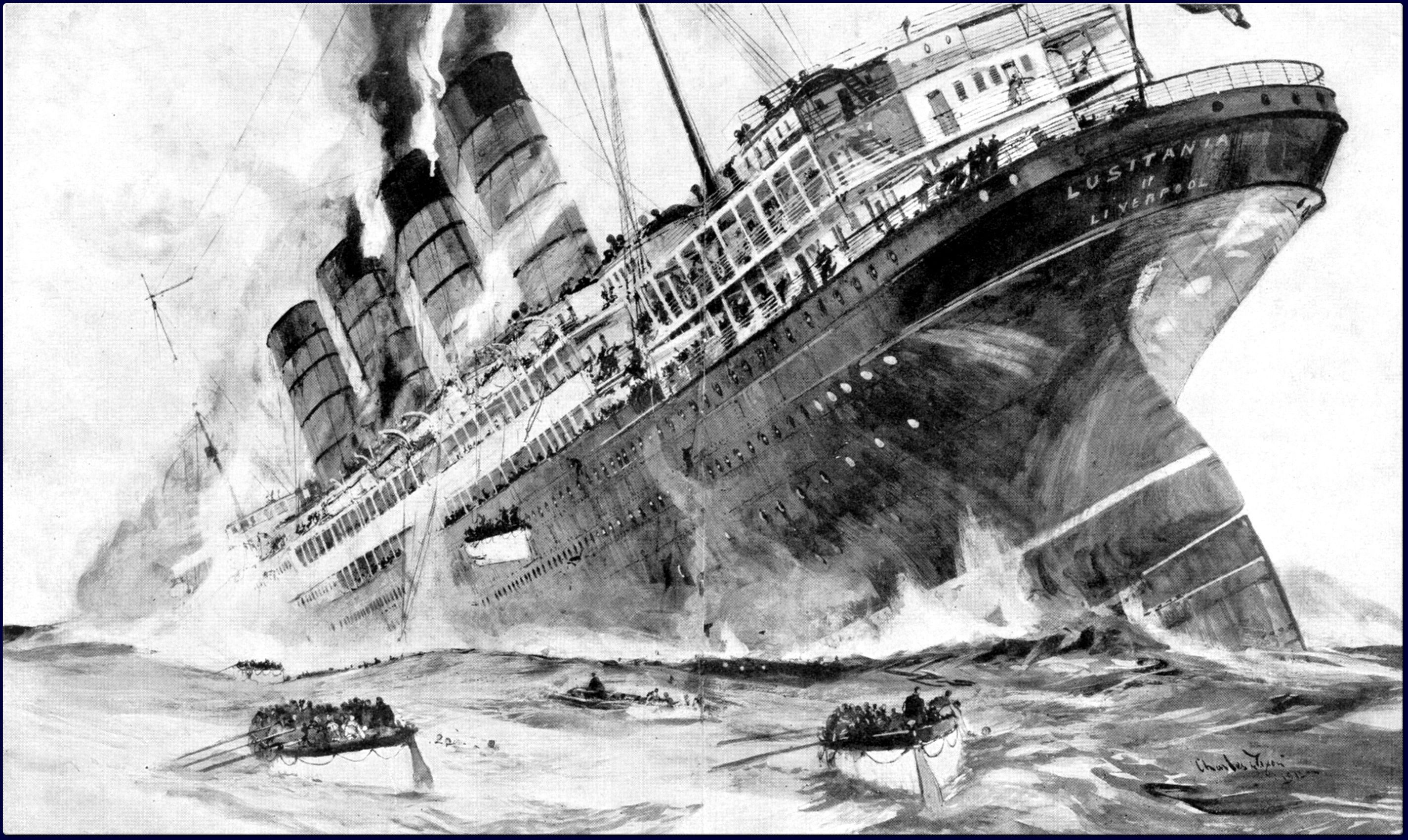Ilustración del RMS Lusitania