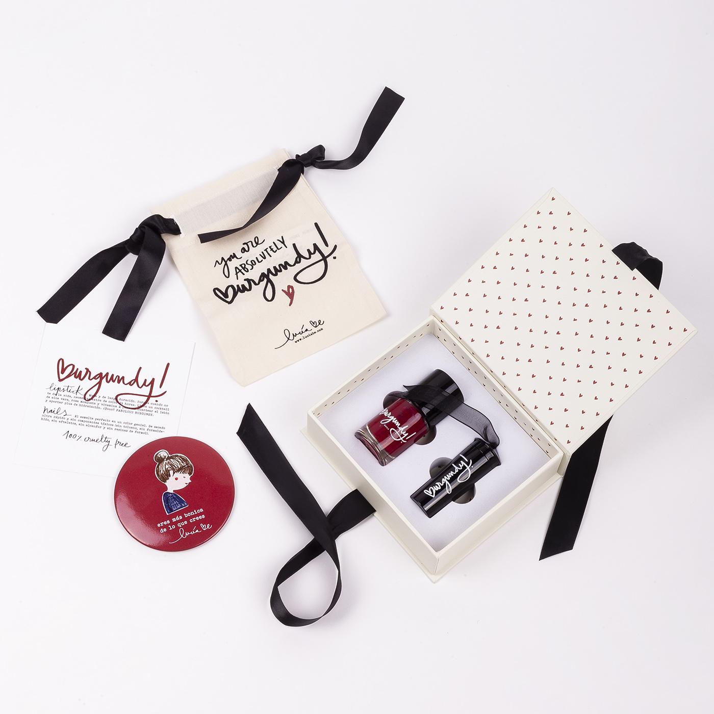 Beauty Pack Burgundy de Lucia Be