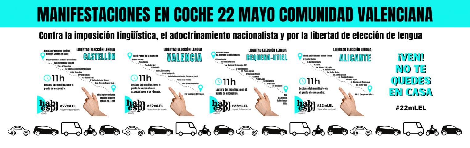 Hablamos Español comienza su recogida de firmas por una Ley de Libertad de Elección de Lengua en la Comunitat Valenciana