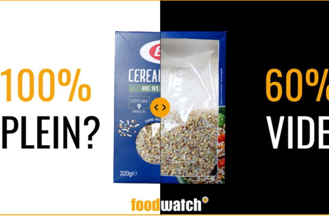Produits alimentaires : Foodwatch brocarde des emballages «pleins de vide»