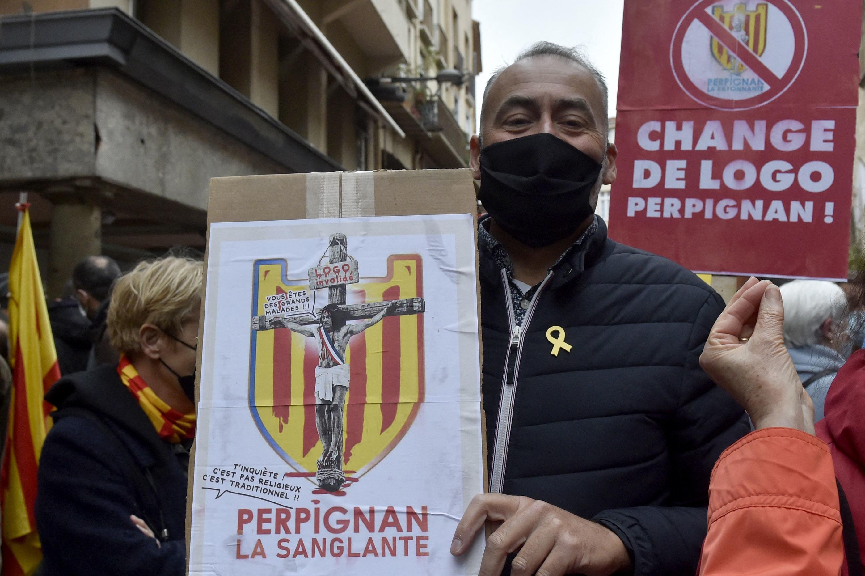 Bataille autour du logo de Perpignan : Louis Aliot, le Saint Jean-Baptiste et les Catalans