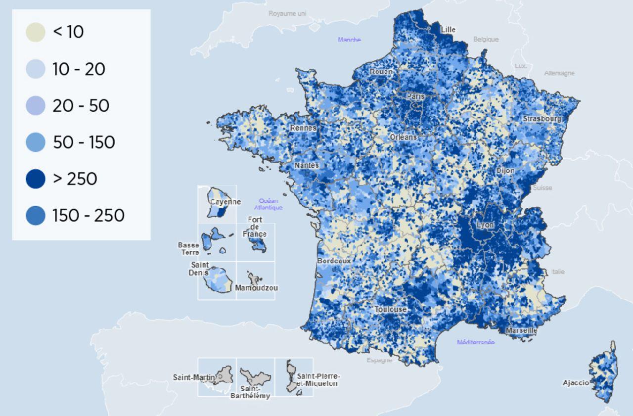 Covid-19 : découvrez la carte de France de l'épidémie à l'échelle des communes
