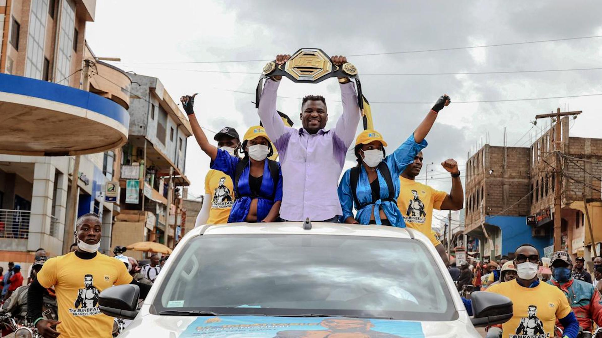 VIDÉO. MMA : le retour triomphal du champion du monde Francis Ngannou au Cameroun