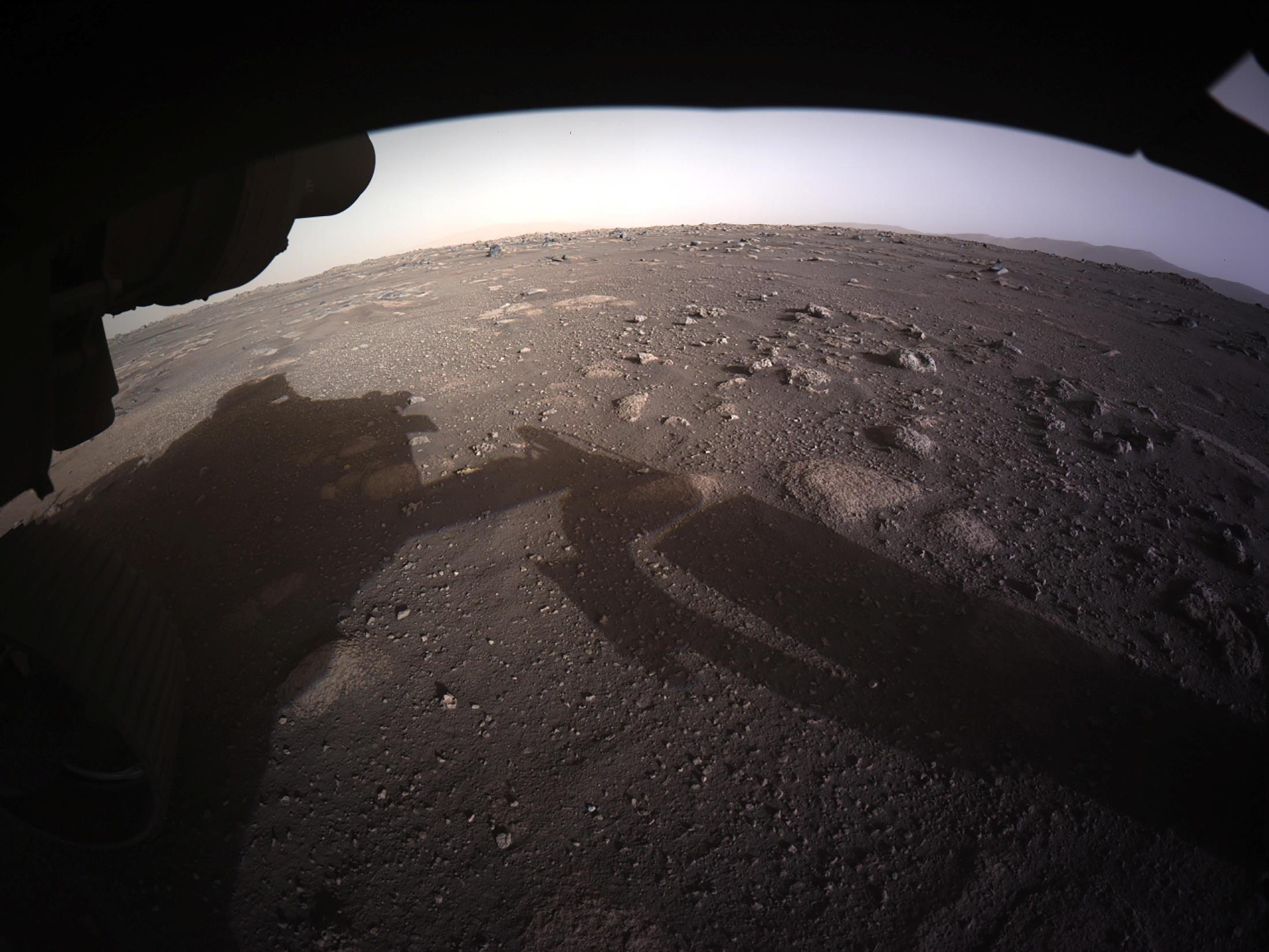 Découvrez les images spectaculaires de l'arrivée de Perseverance sur Mars - Le Parisien
