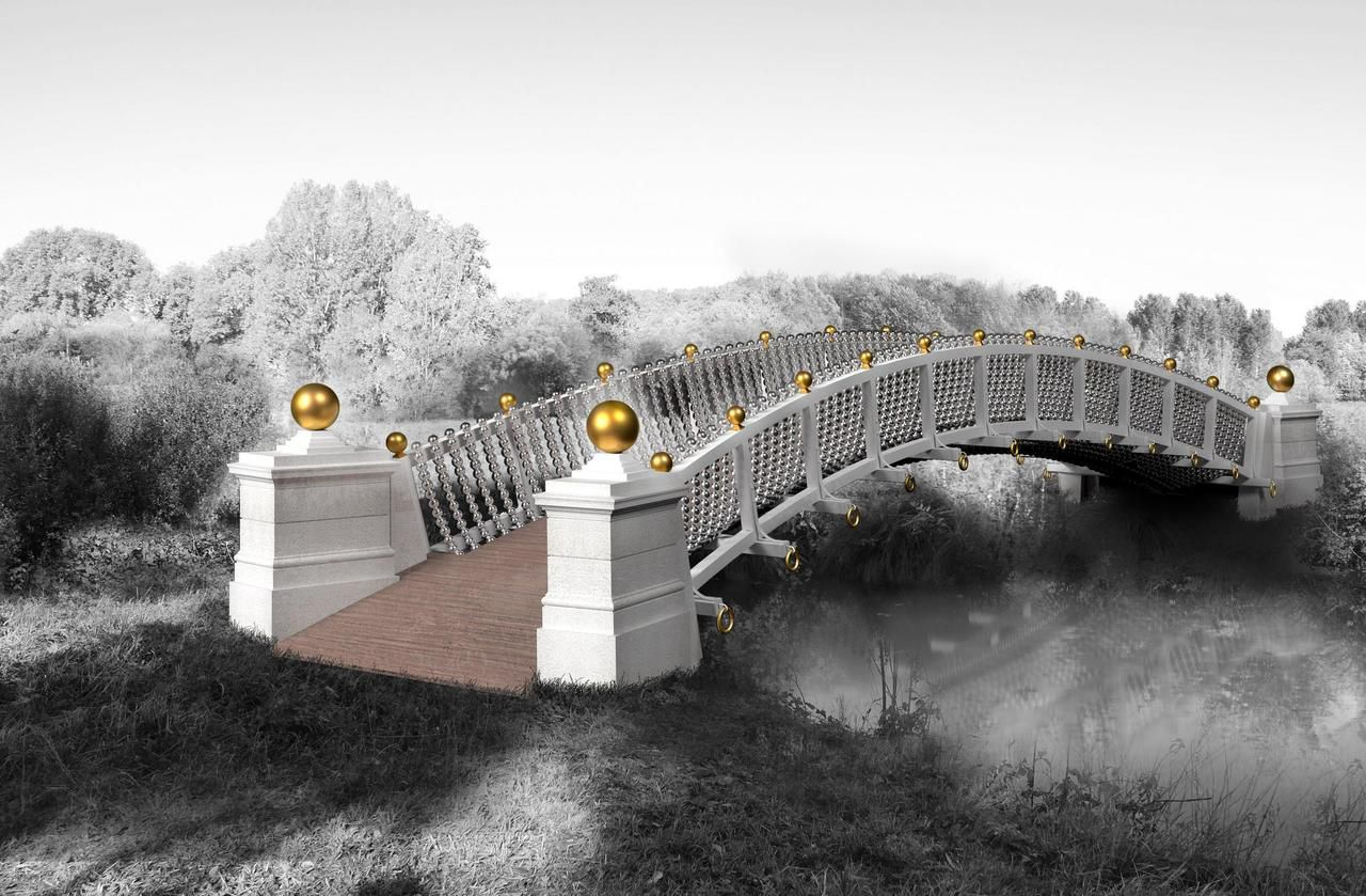 Domaine de Méréville : et si vous «adoptiez» une perle d'or du futur pont Othoniel ?