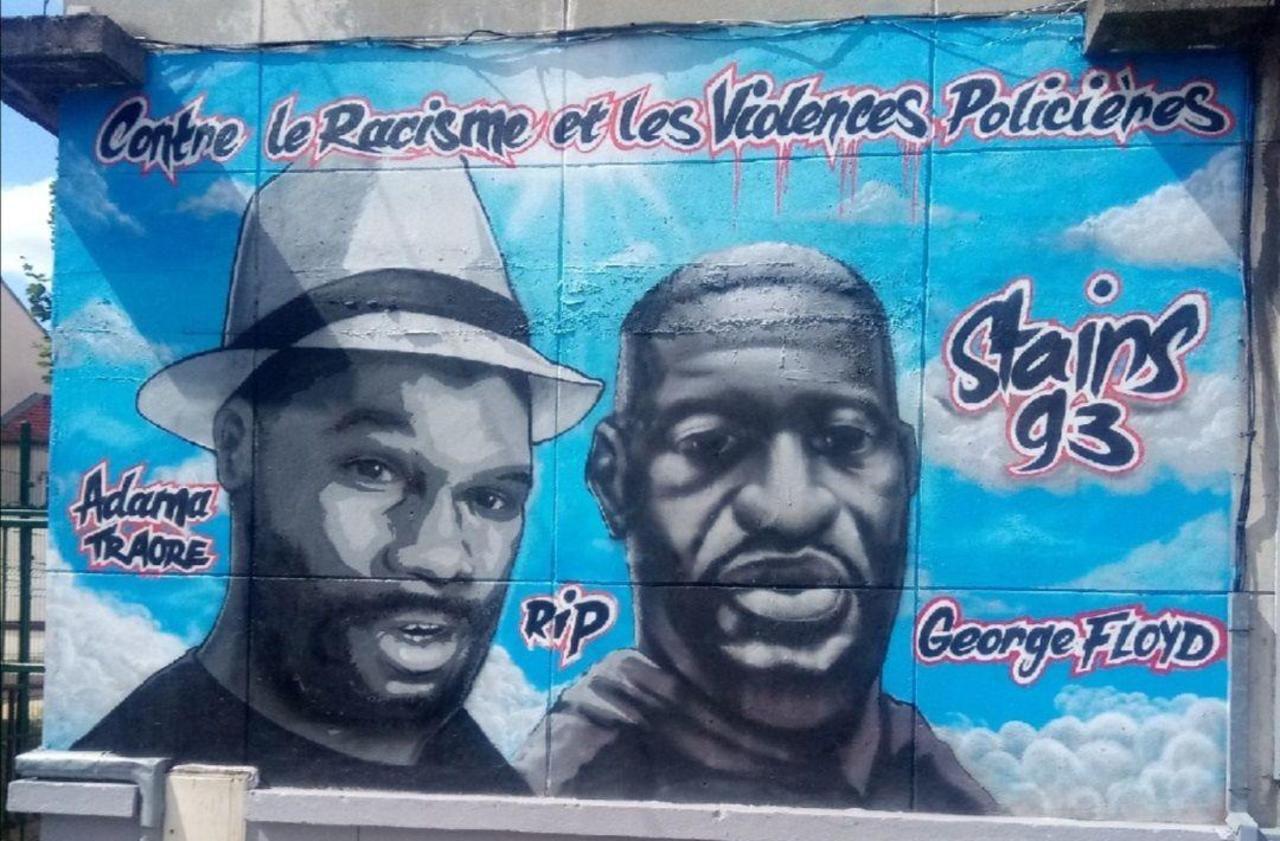 Stains : la fresque contre le racisme et les violences policières remise en état