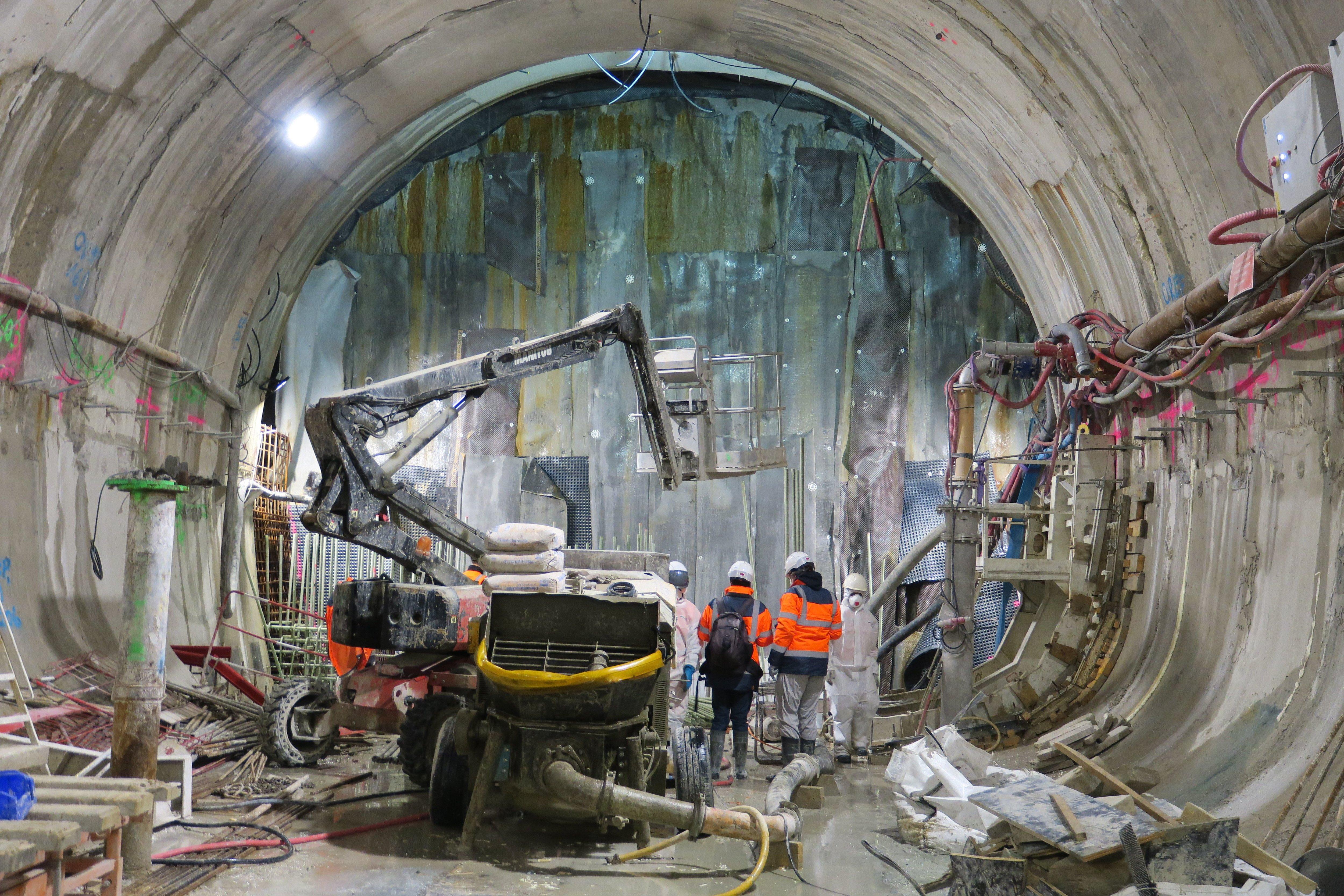 Chantier du RER E : quatre ans pour percer 170 mètres de tunnel