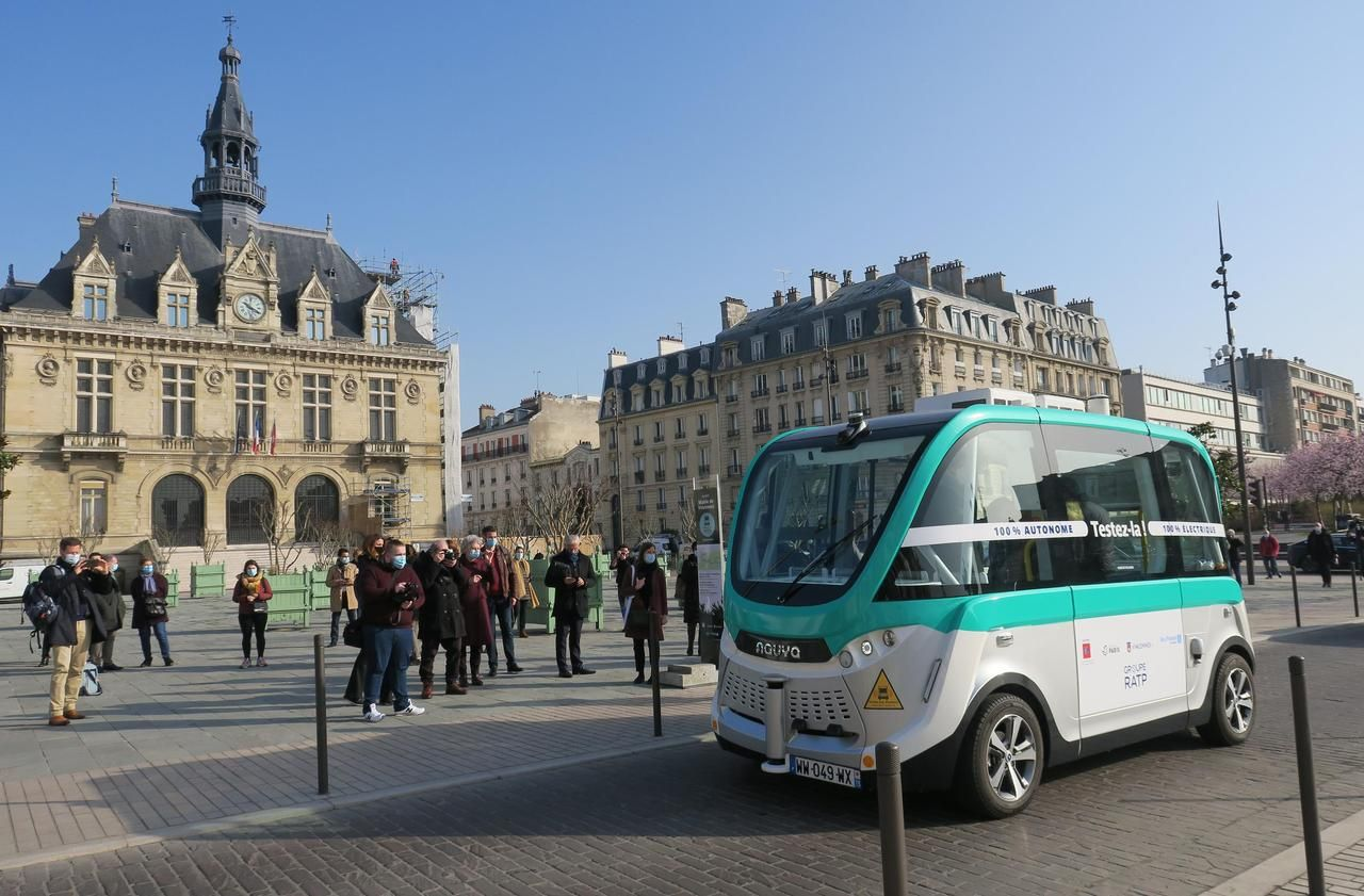 A Vincennes, les navettes sans chauffeur sortent du bois - Le Parisien