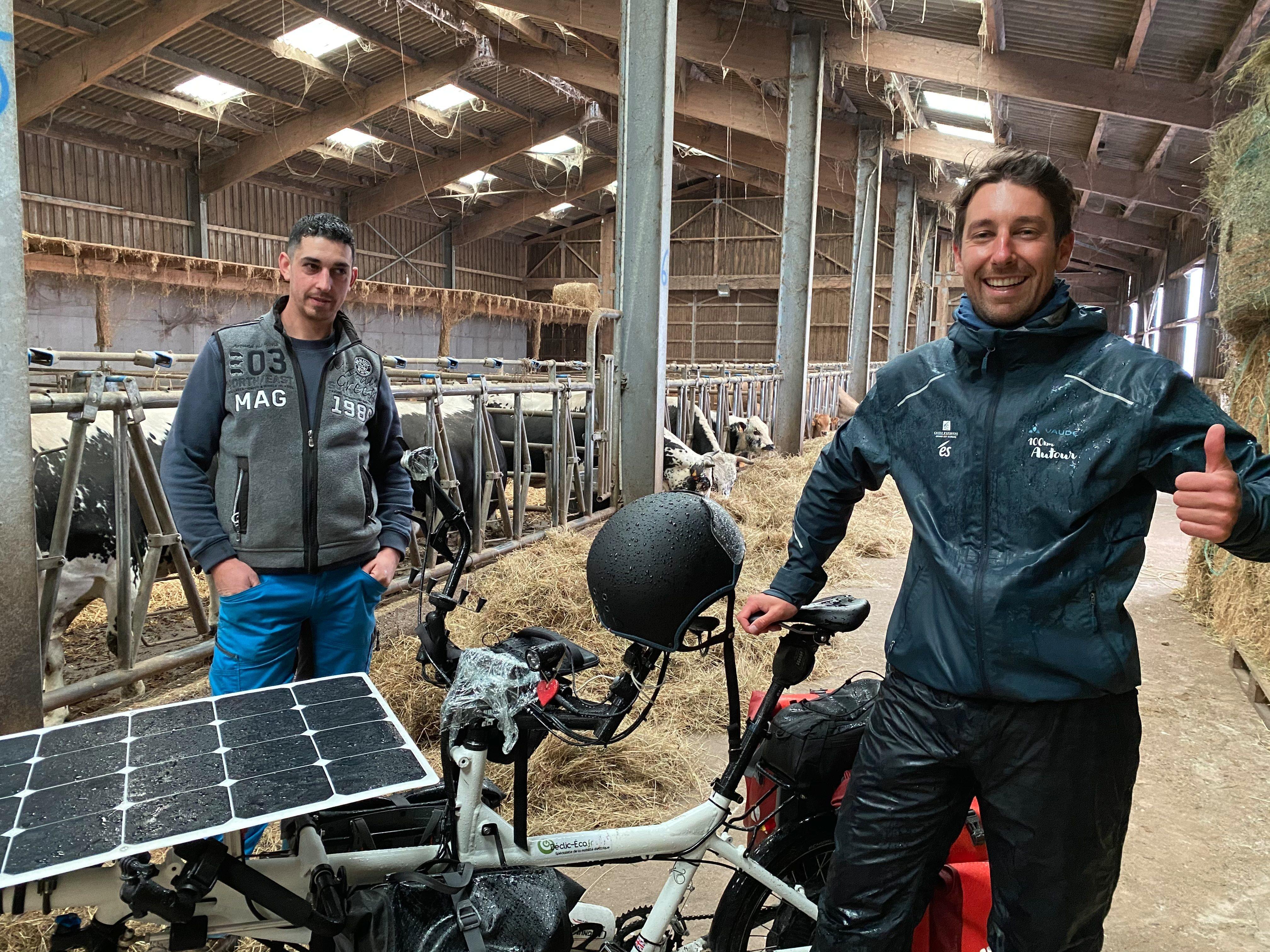 «100 km autour de Strasbourg» : il fait le tour d'Alsace agricole à vélo solaire pour promouvoir les producteurs locaux