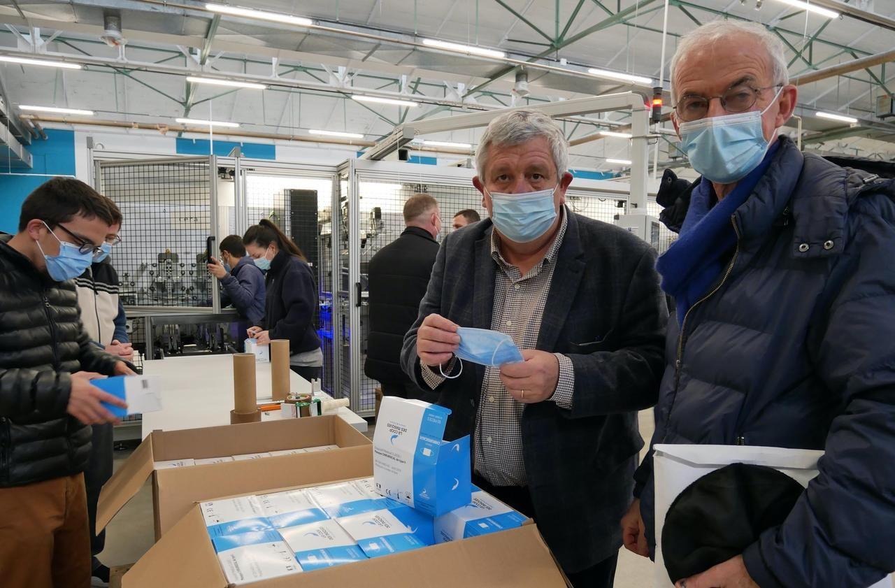 Covid-19 : l'ancienne usine de masques renaît de ses cendres en Bretagne