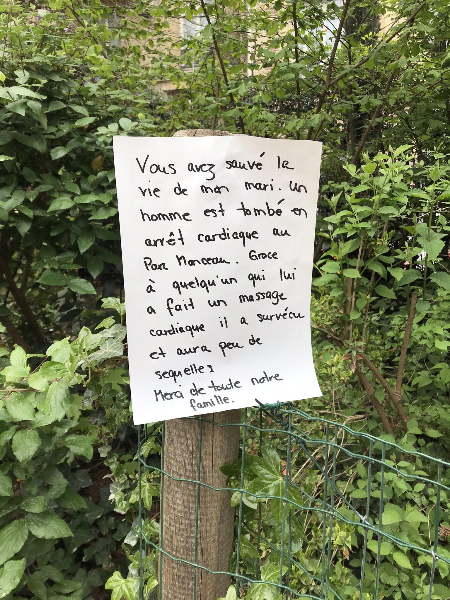 Paris : avec ses affiches, elle recherche celle qui a sauvé son mari en arrêt cardiaque au parc Monceau