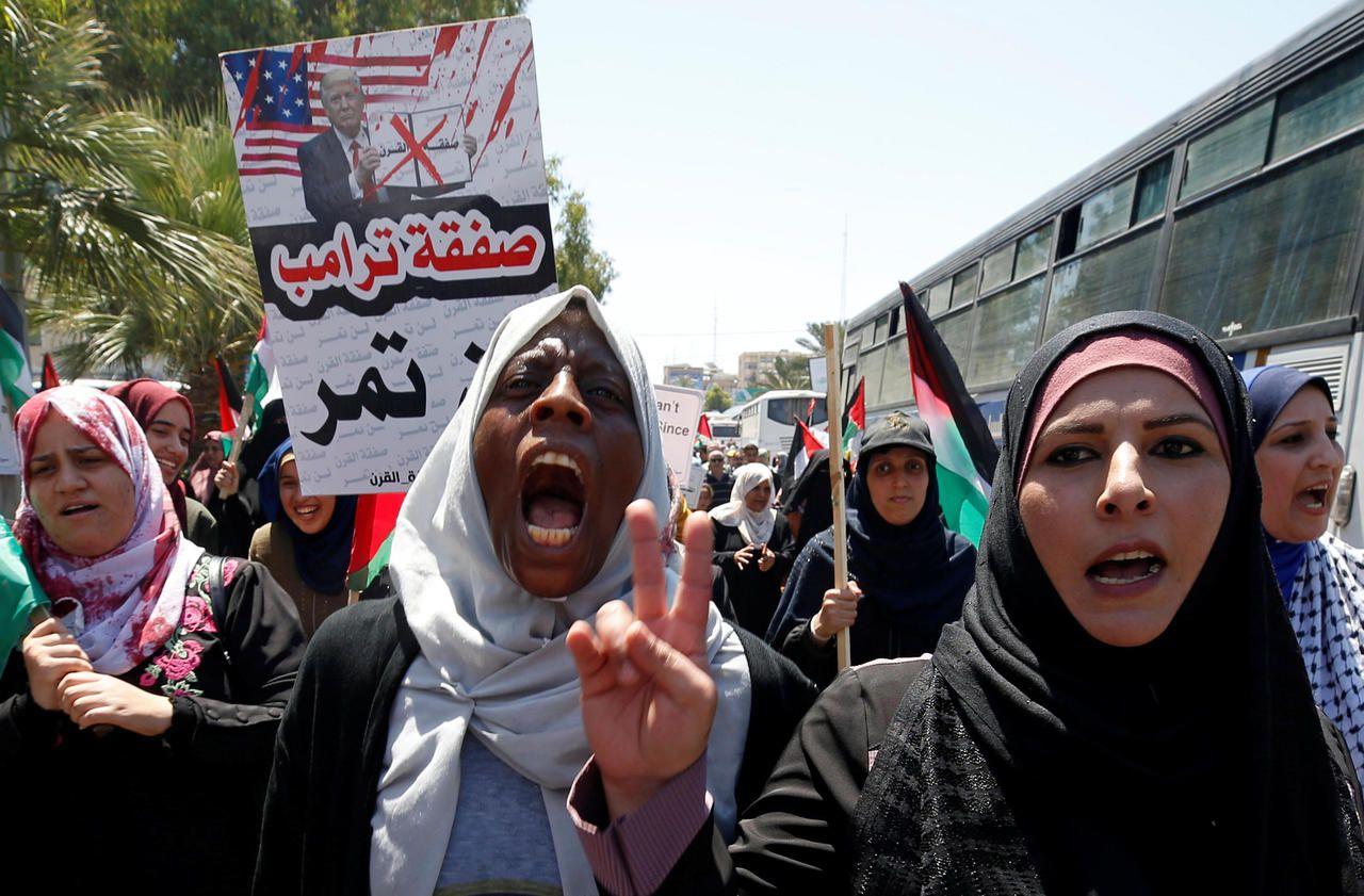 Demonstration in Gaza against Israeli annexation