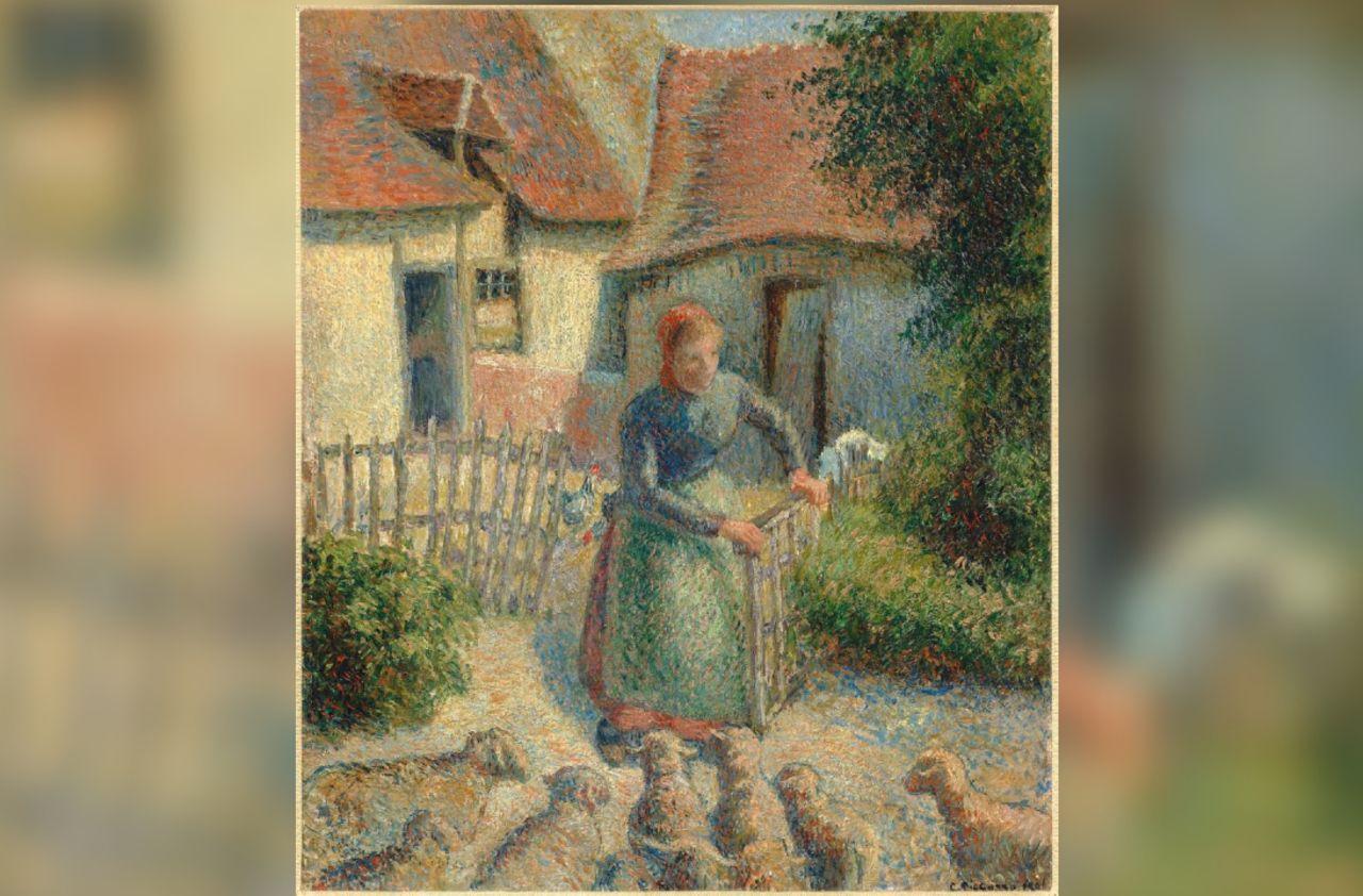 La bergère de Pissarro, spoliée par les nazis, enflamme les justices française et américaine - Le Parisien