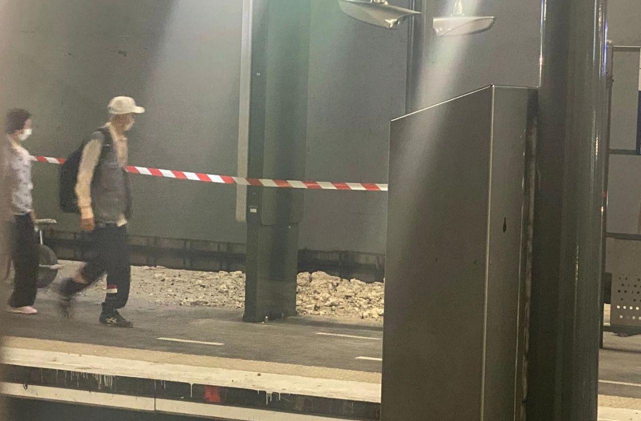 Noisy-le-Grand : une partie de la voûte de la gare RER s'effondre