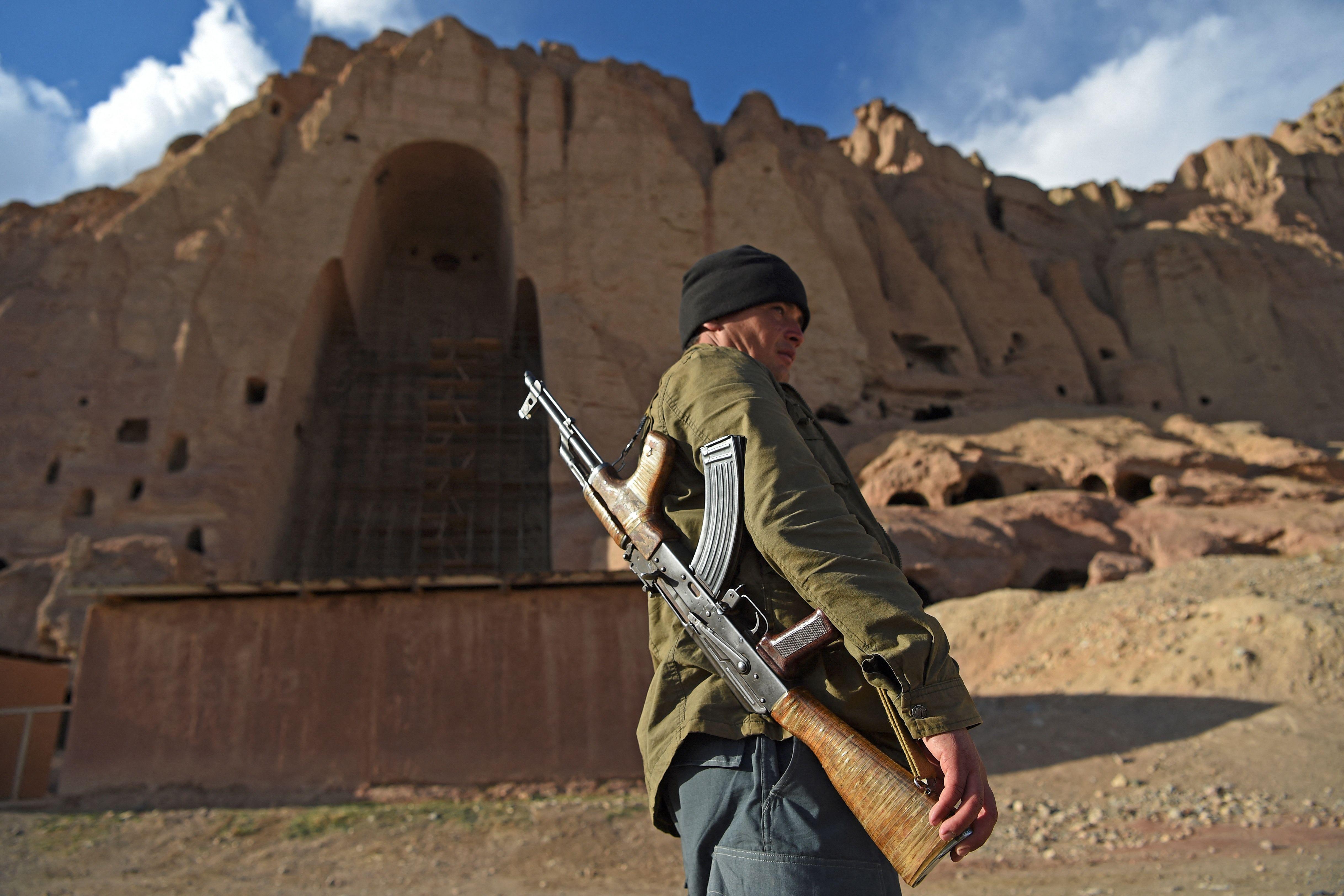 Los talibanes, bajo la sombra de la voladura de los Budas Gigantes