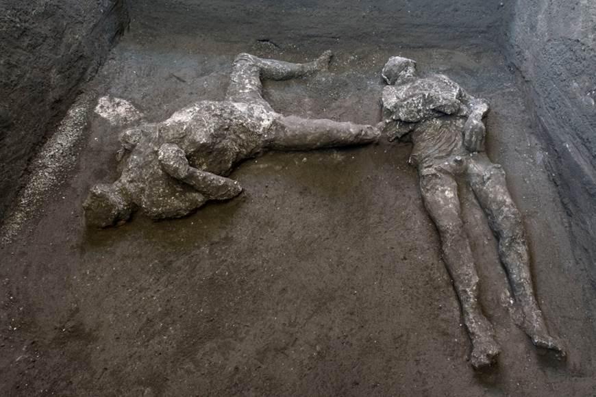 Un hombre y su esclavo, las últimas víctimas de la destrucción de Pompeya en el año 79