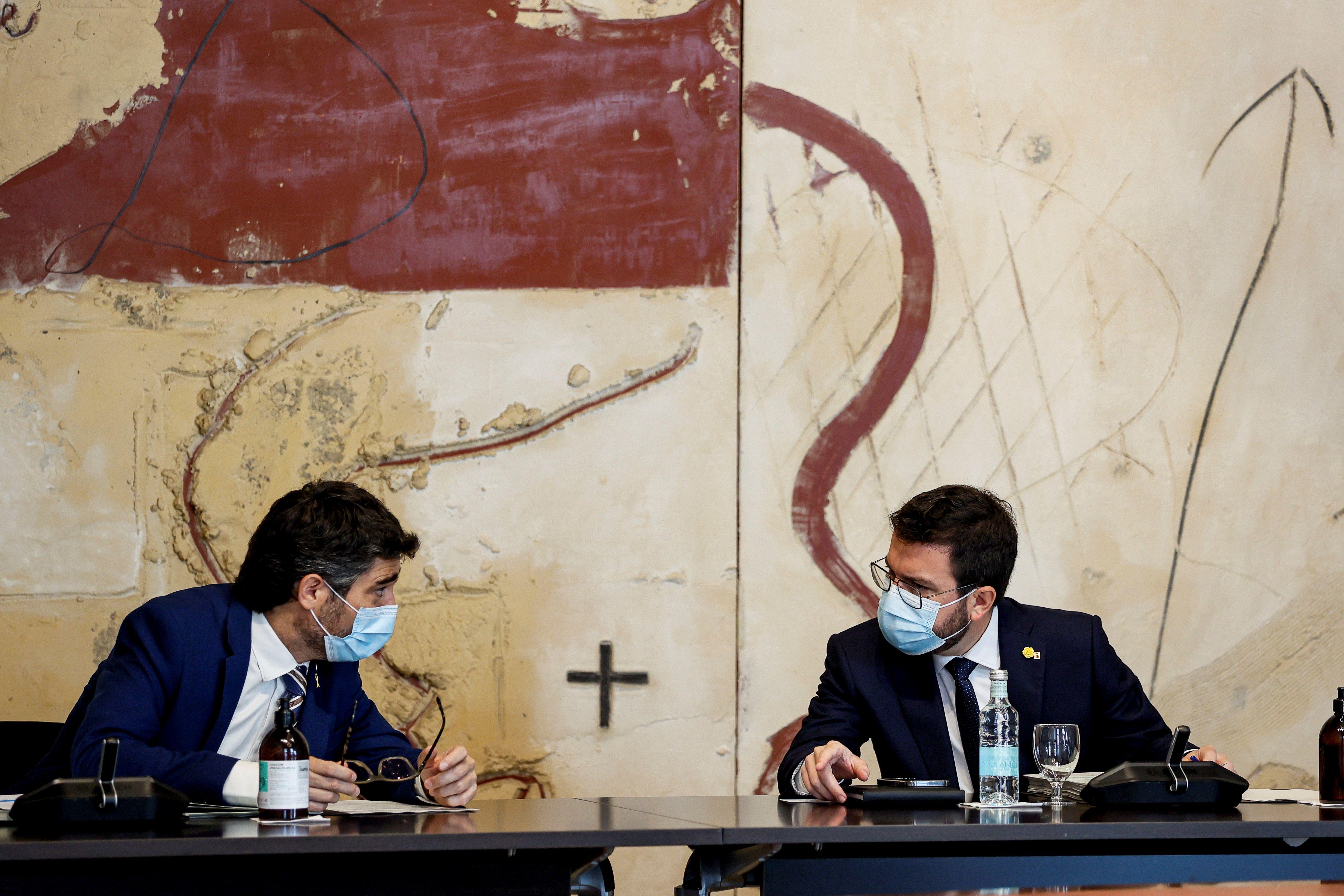 Aragonès admite la dificultad de que la Generalitat avale a los sancionados por el Tribunal de Cuentas