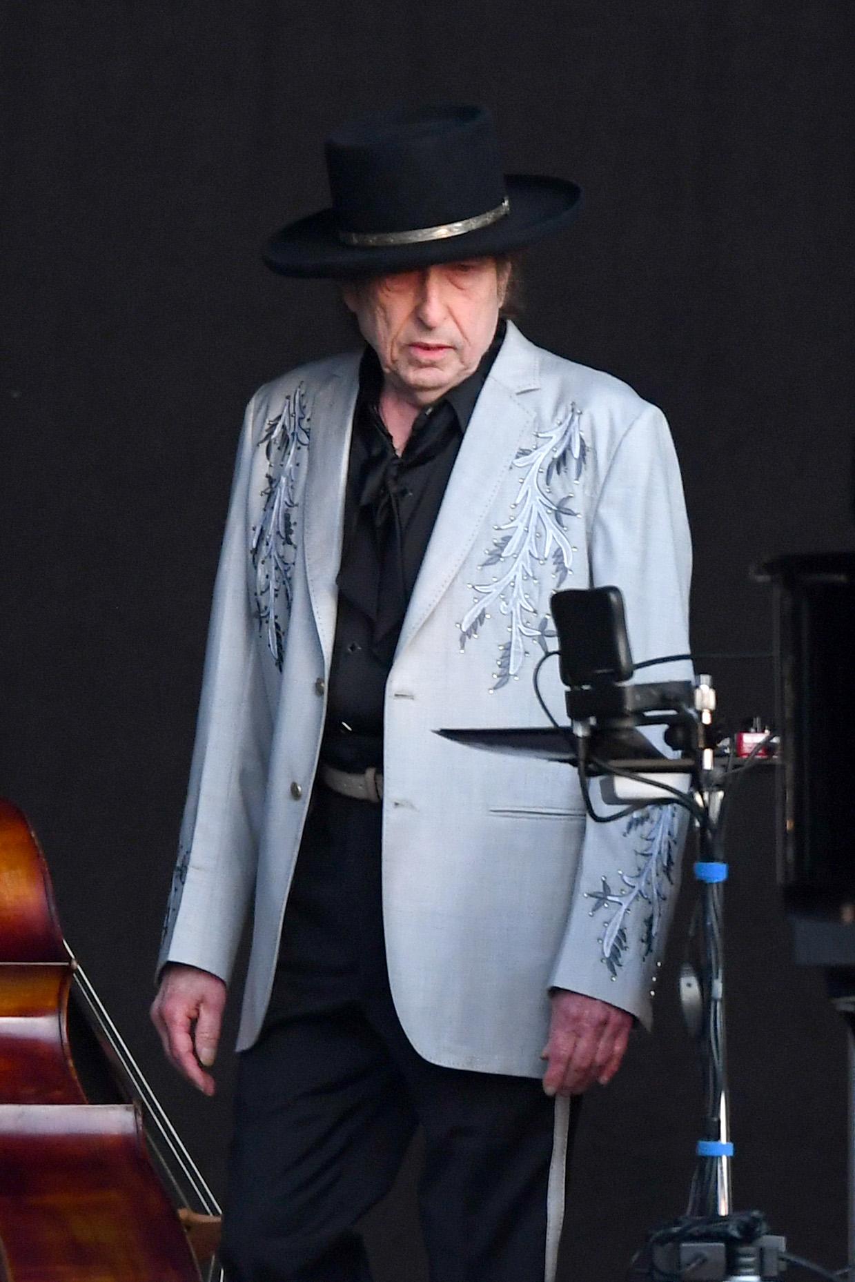 Bob Dylan, in concert in Hyde Park (London), in July 2019.
