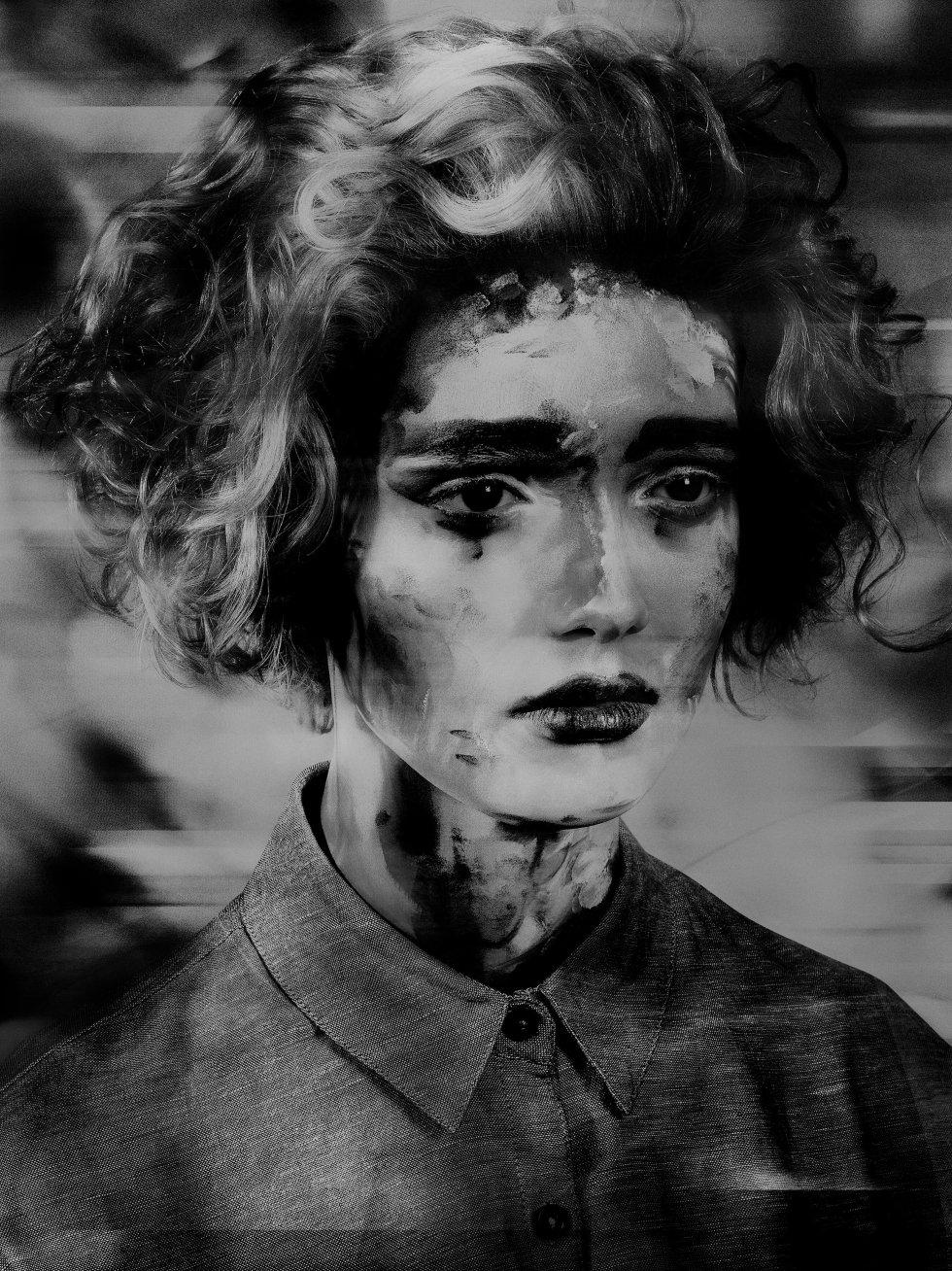 'Untitled' ('Painted Ladies' series), 2017, by Valérie Belin.